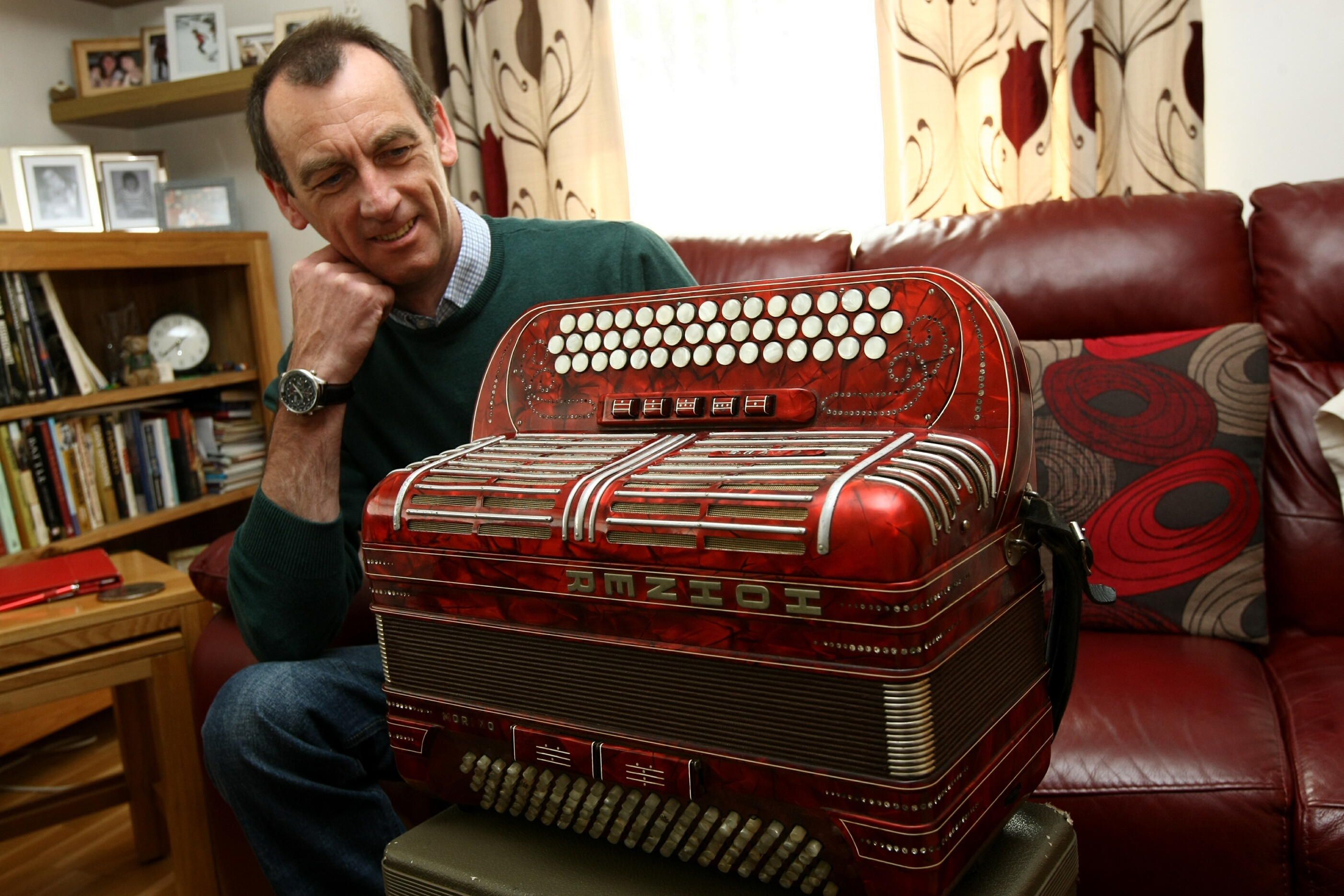 Stuart Venters has been left with the wrong accordian.