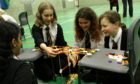 A STEM day challenge held in Queen Anne High School, Dunfermline