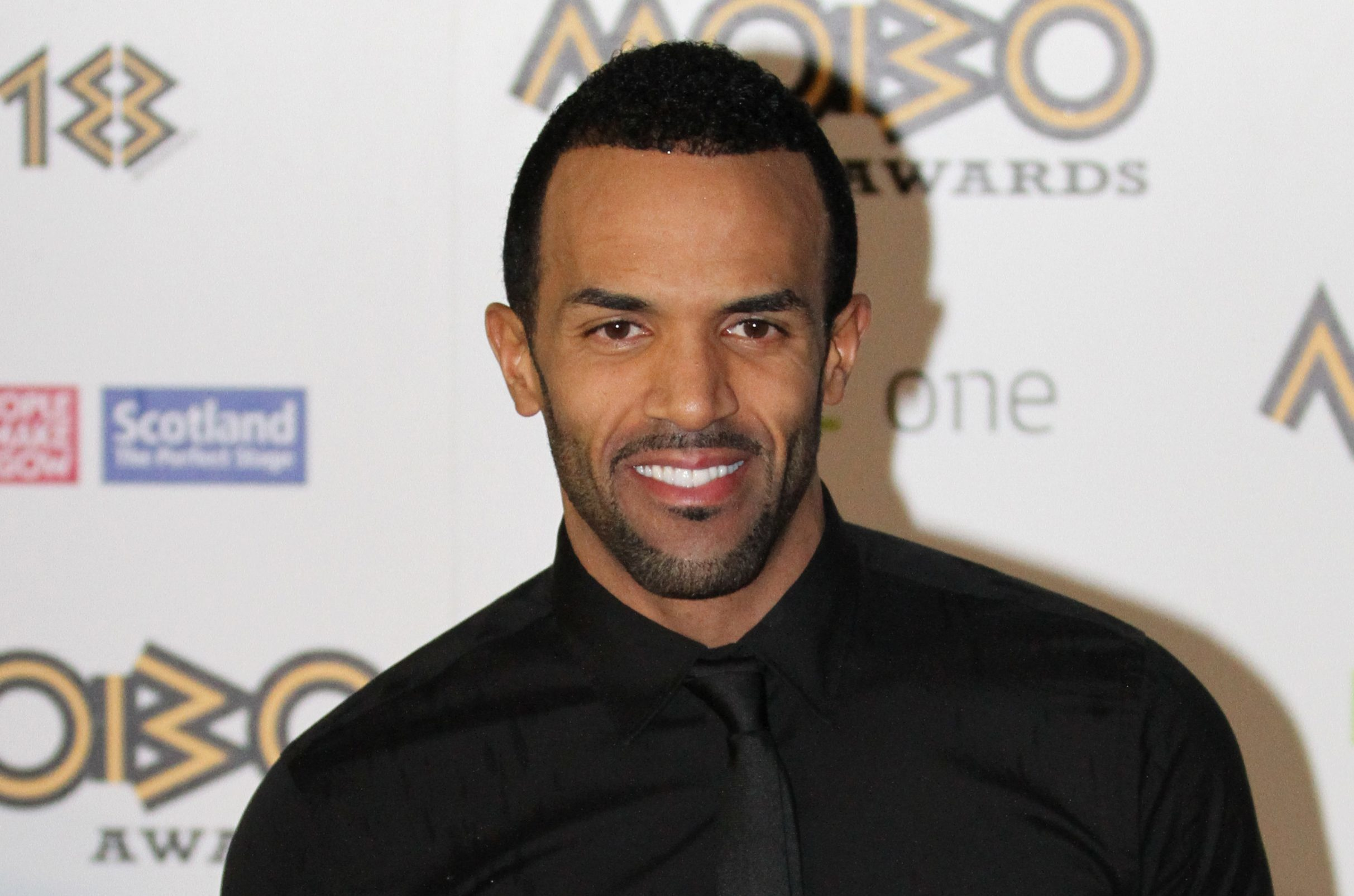Craig David at the Mobo Awards in Glasgow in 2013.