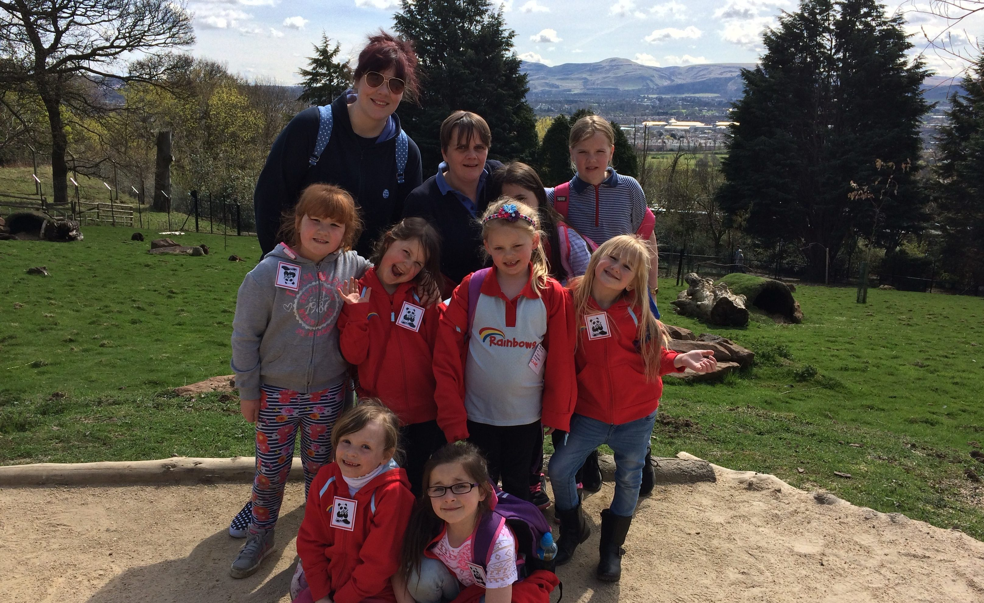 The 1st Arbroath Rainbows and their leaders pictured at the zoo.