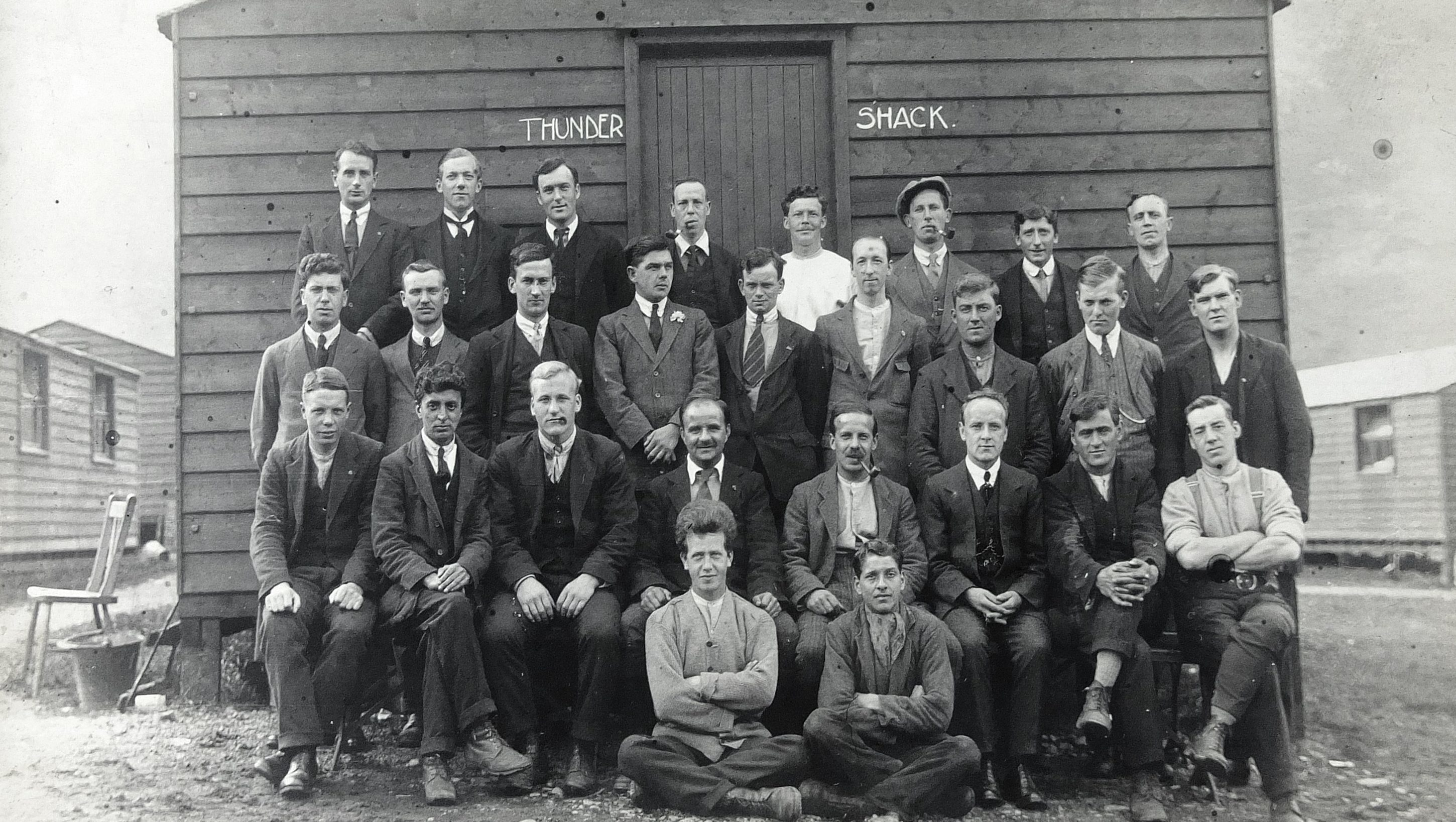 Conscientious objectors at a prison camp in Ballachulish in the Highlands