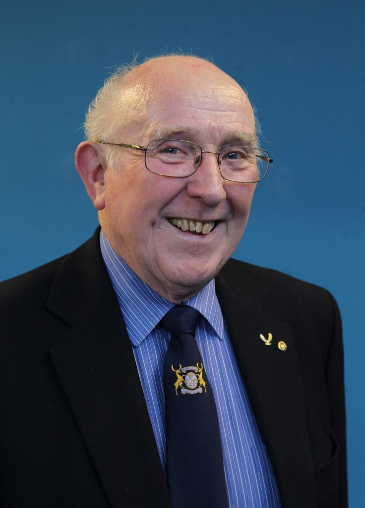 Forfar ATC present an award to Forfar baker Bill McLaren, of the famous town firm, for his stalwart support to 2231 Squadron over many years. Pic shows Bill McLaren.pic Paul Reid