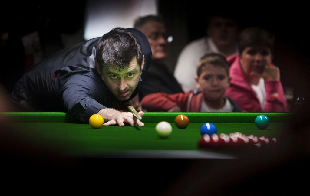 Snooker star Ronnie O'Sullivan at Shots Snooker Club in Arbroath...pic Paul Reid