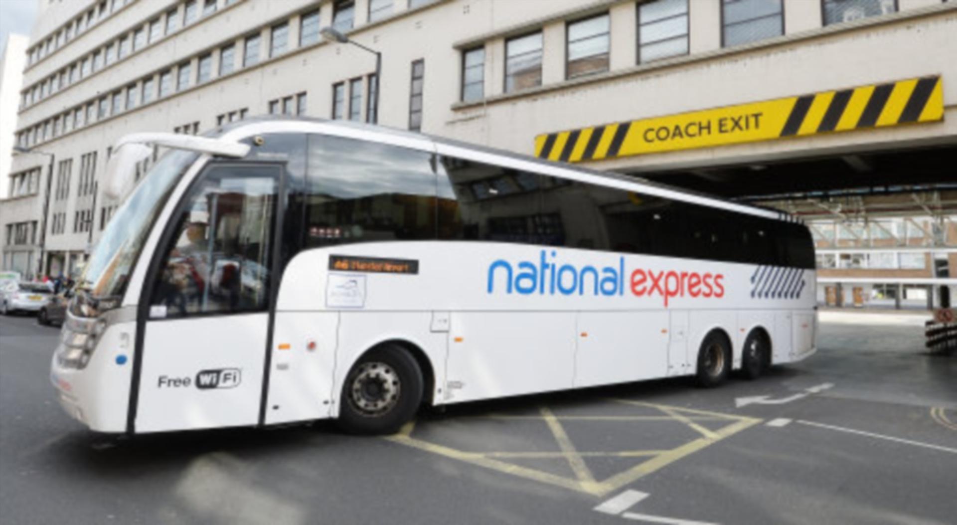 A National Express coach.