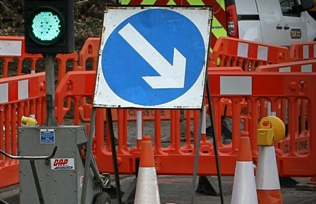 The roadworks are expected to last five days.