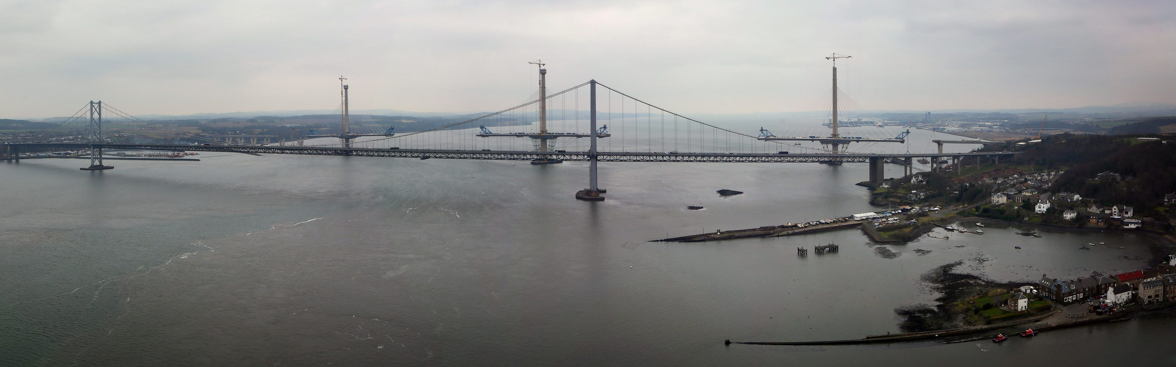 Network problems in Kirkcaldy have been blamed on a cable being cut by accident at the Queensferry Crossing site