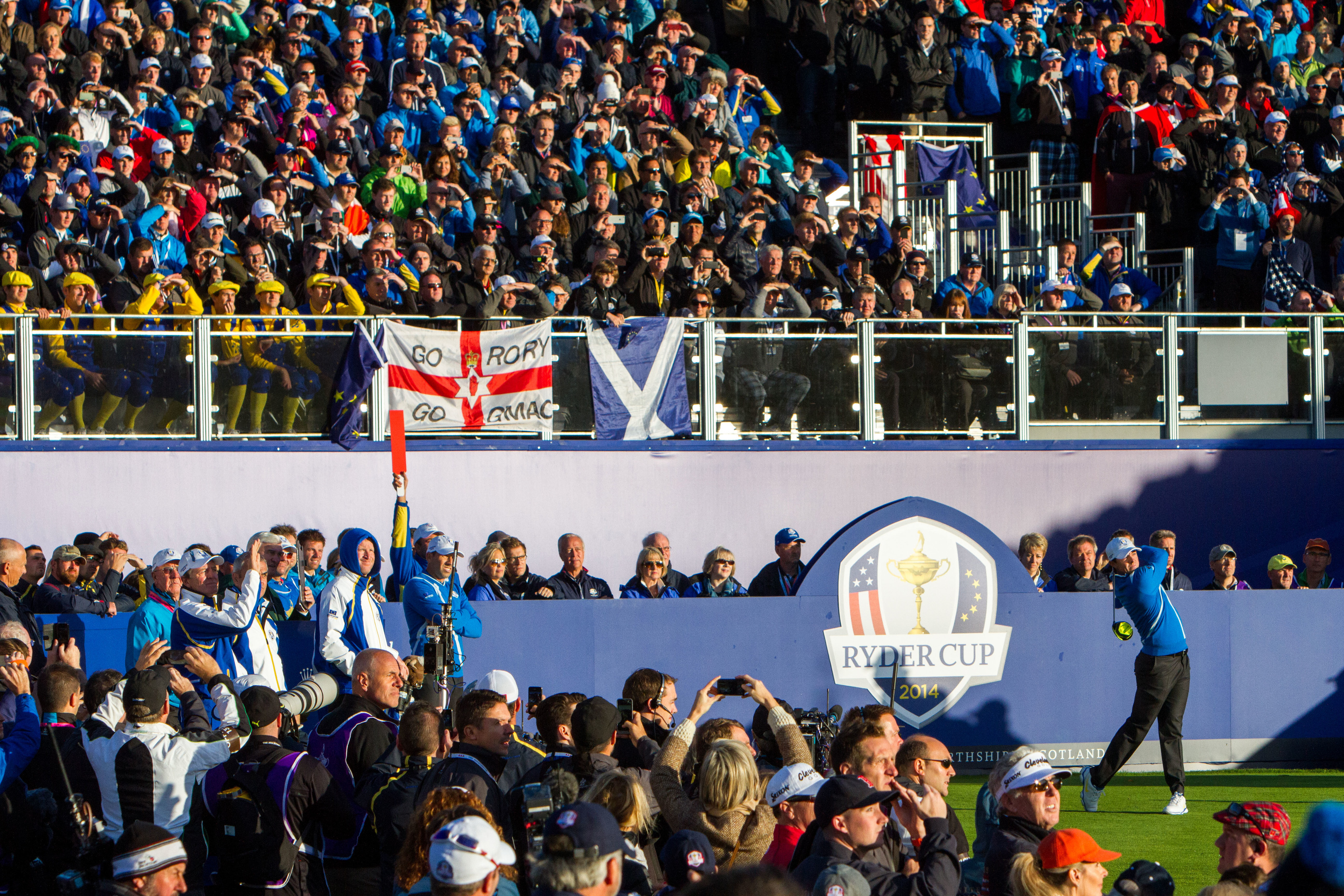 The Ryder Cup in Gleneagles helped boost spending figures.