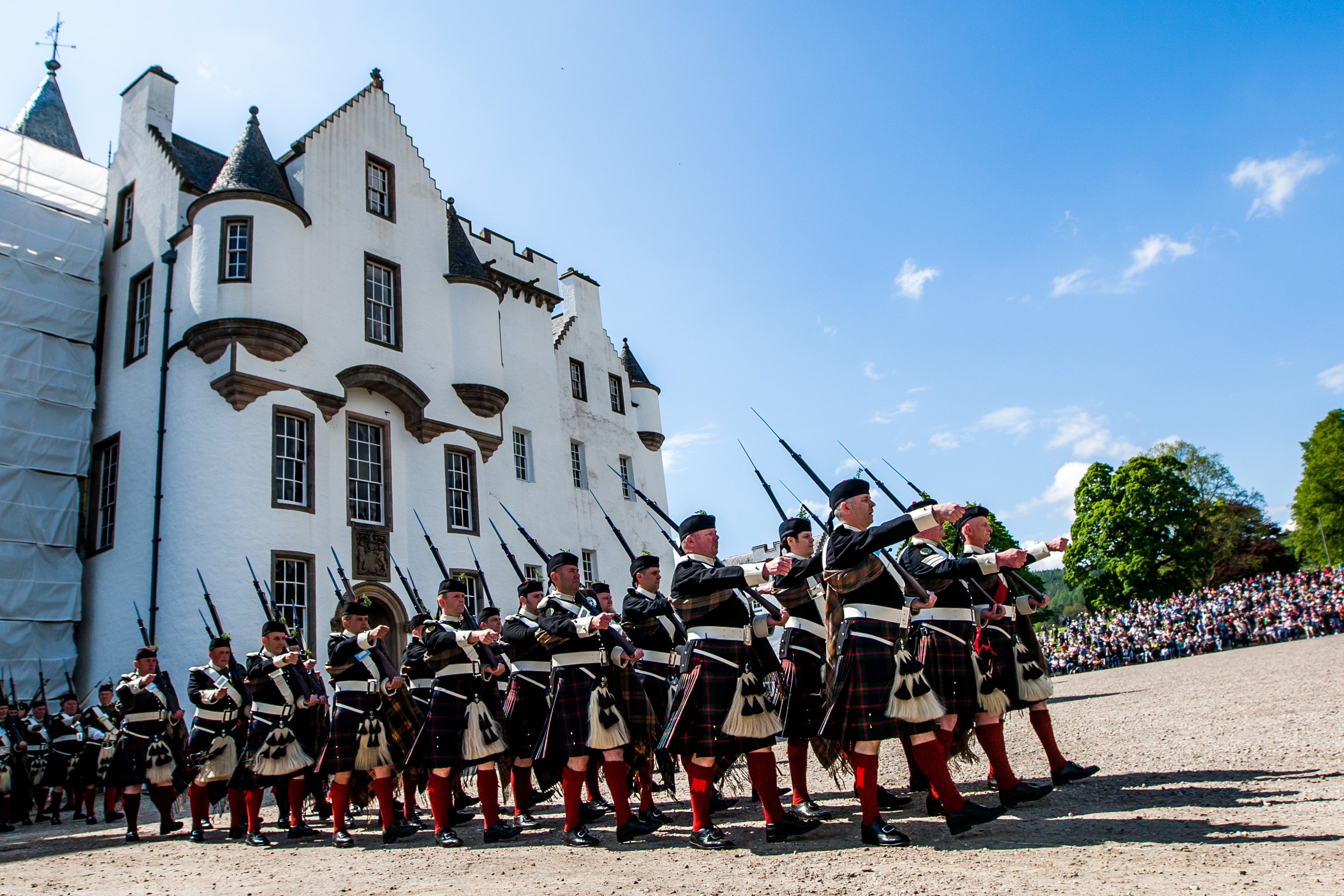 The Atholl Highlanders Parade.