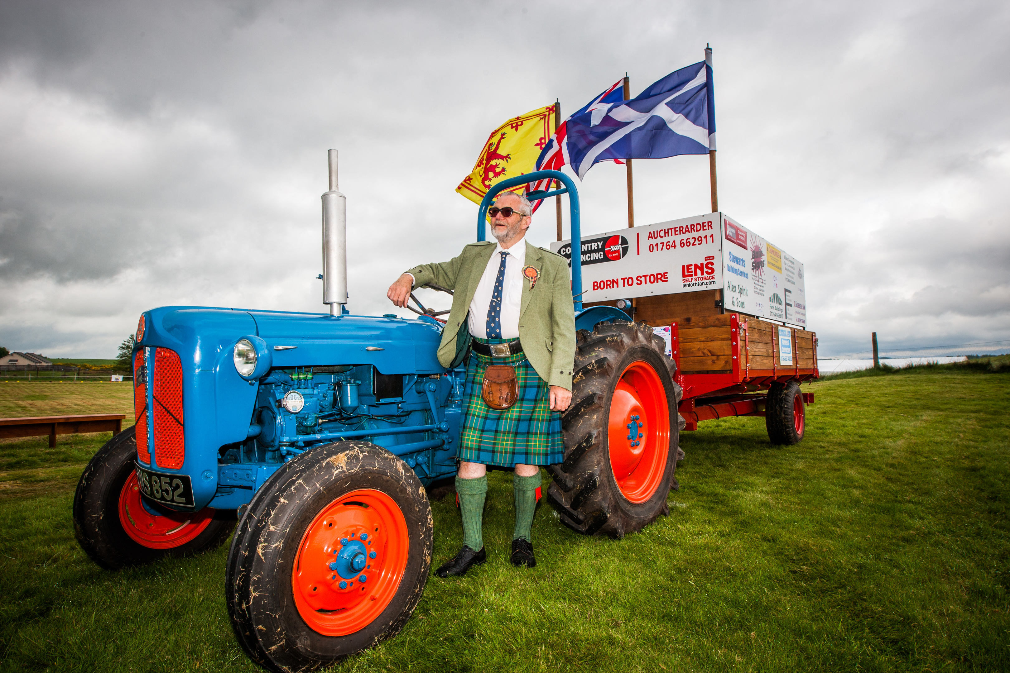 David and his tractor at Blackford Highland Games.