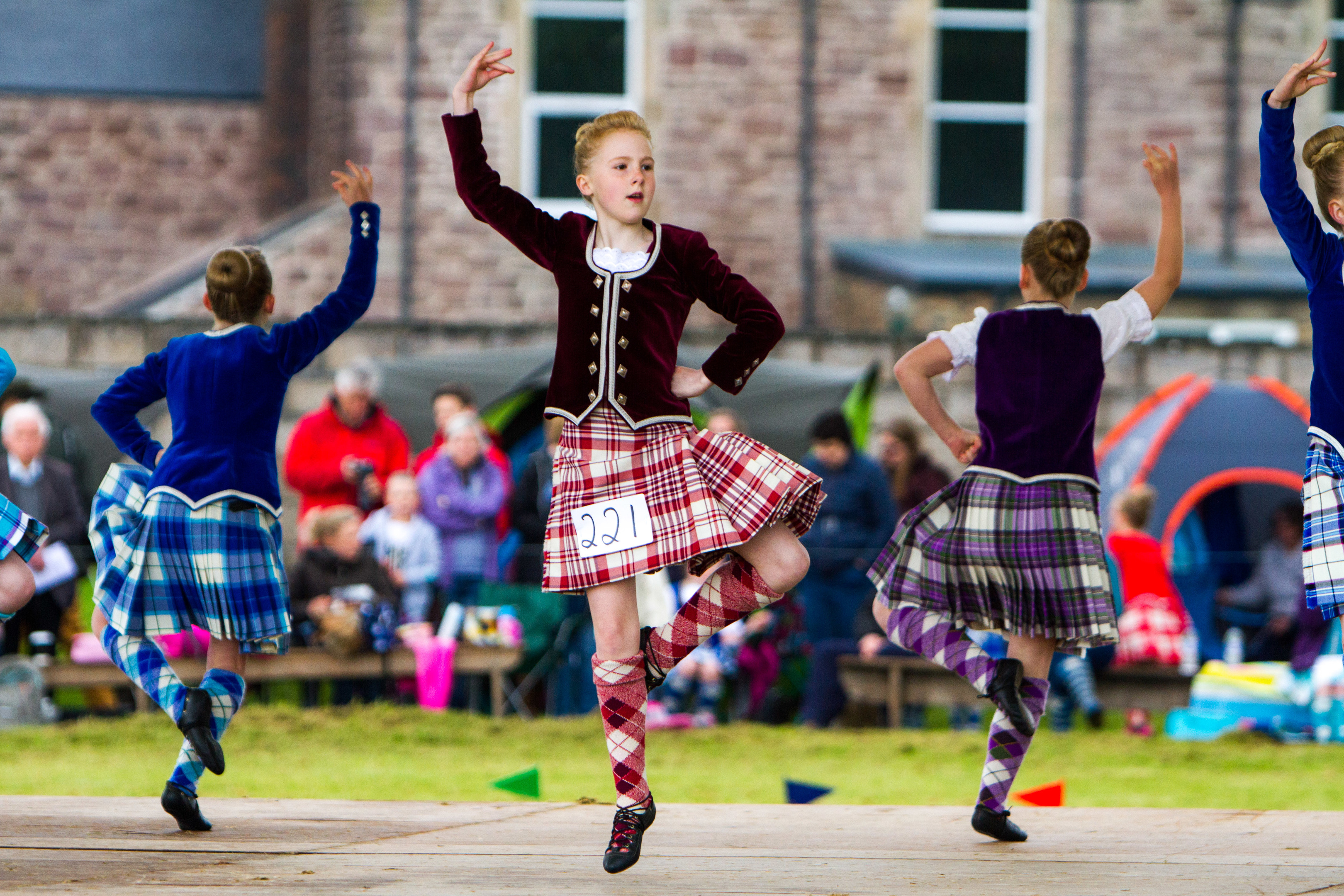 Taliah Miller from Perth during the Highland Fling at Blackford Highland Games