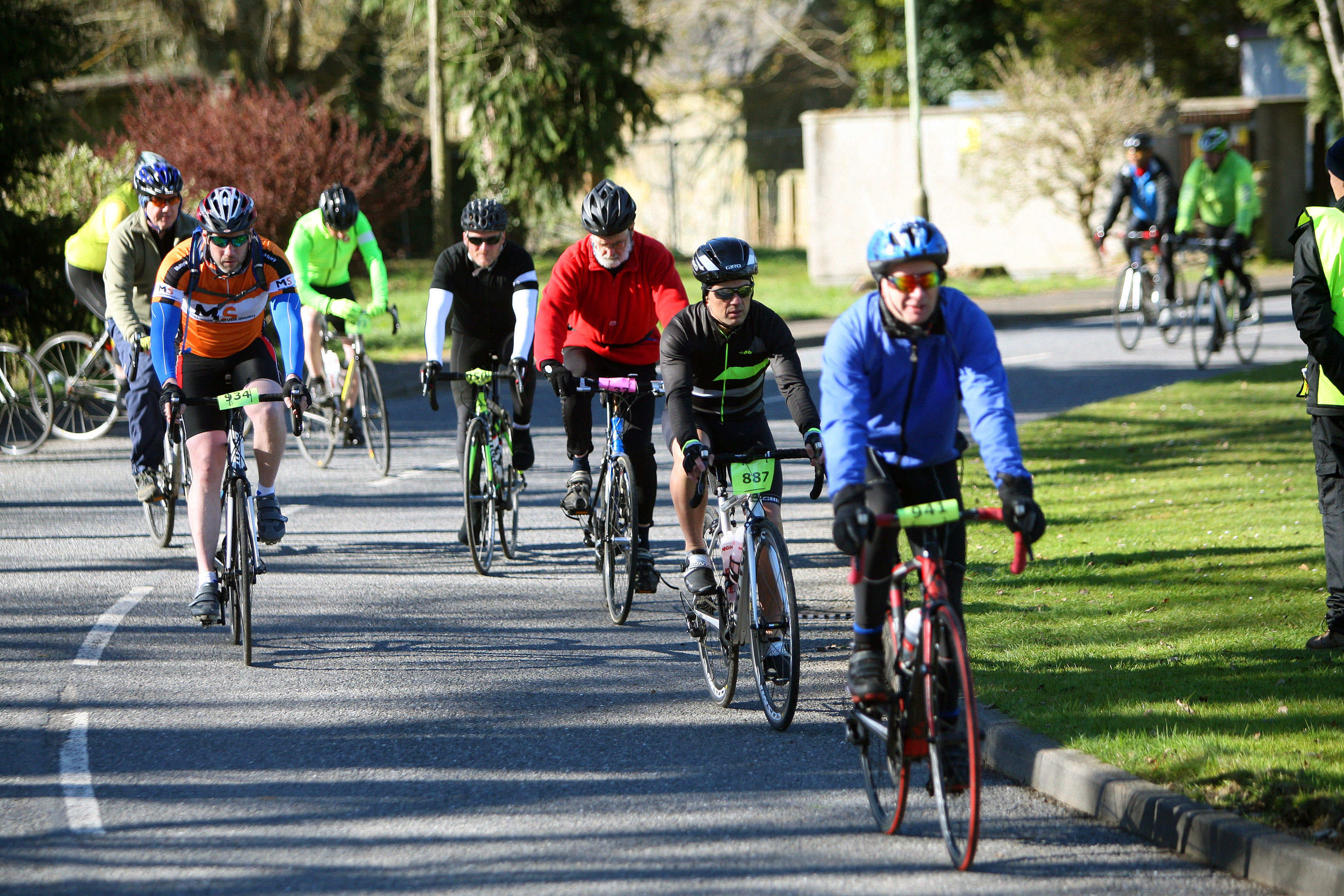 Cyclists in the Tayside Challenge Sportive.