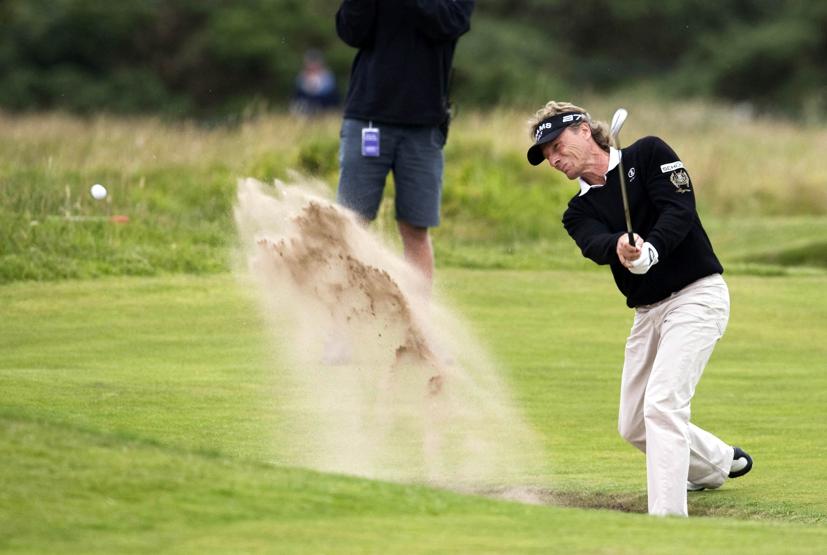 Bernhard Langer pictured during his win at the 2010 Senior Open at Carnoustie