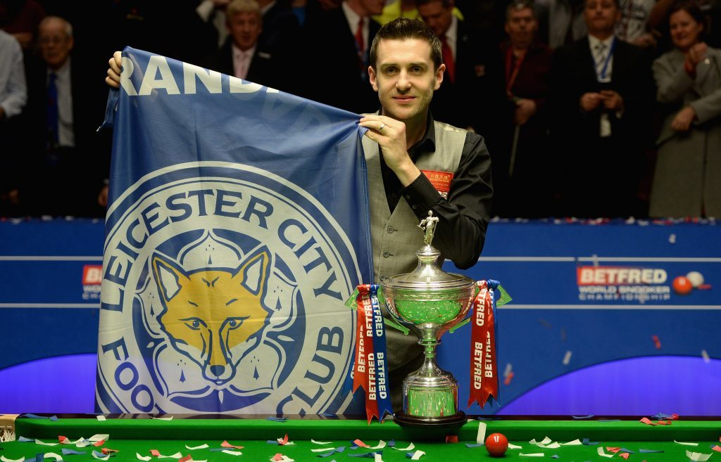 New World Snooker Champion Mark Selby, from Leicester, also celebrated his local team's achievement.