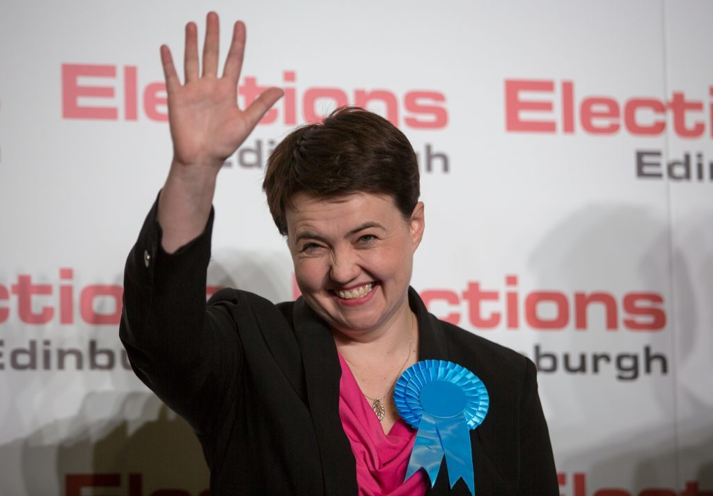 Ruth Davidson could wave goodbye to the UK Conservatives if the party is led by Boris Johnson