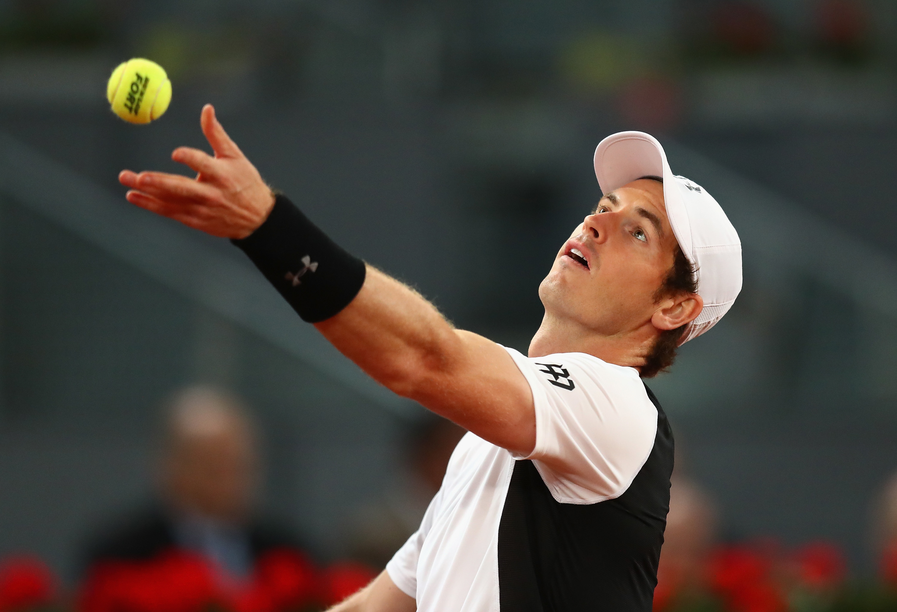 Andy Murray in action against Tomas Berdych.