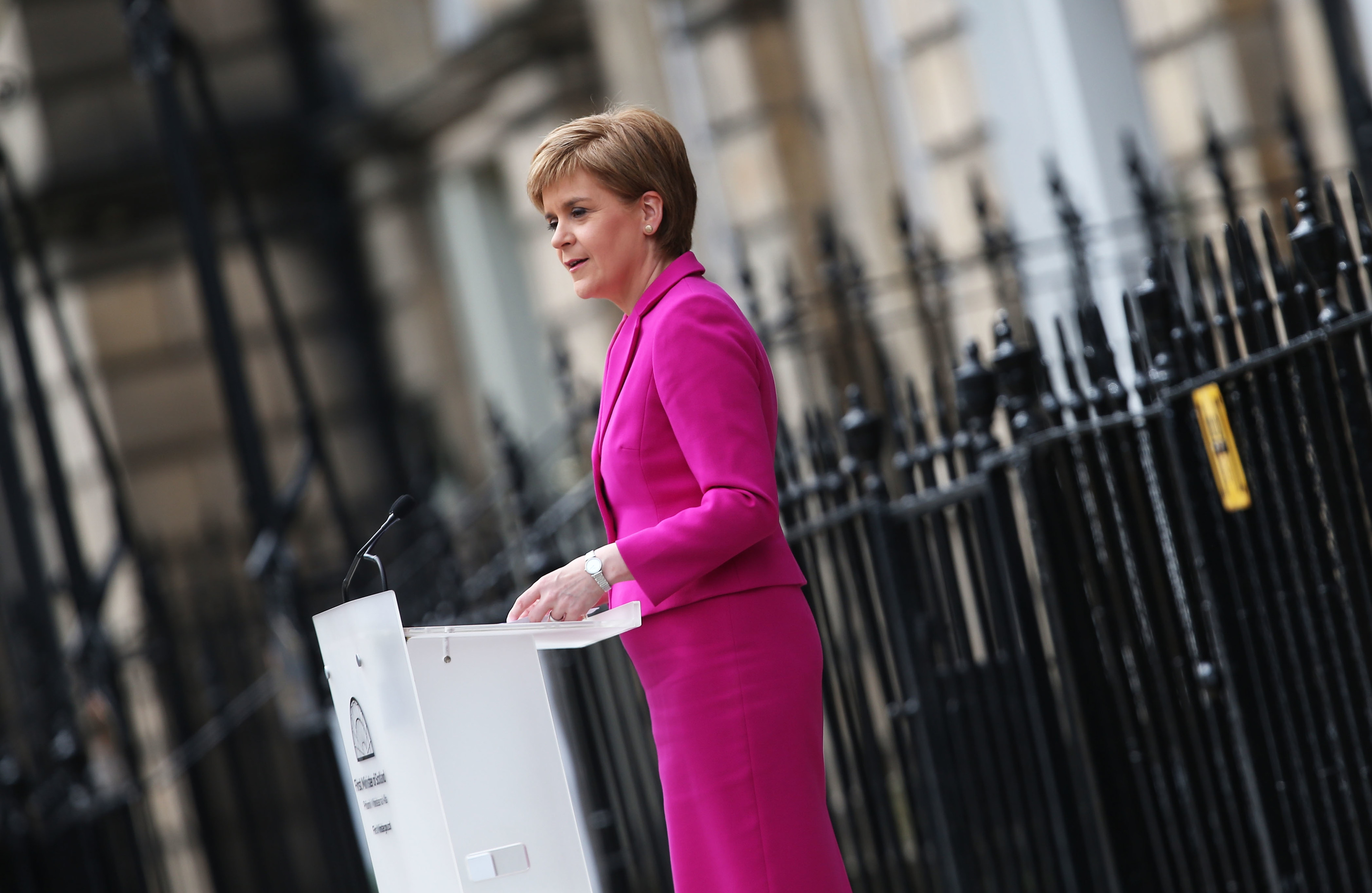 Nicola Sturgeon announces she won't form a coalition but that her government will be inclusive at Holyrood