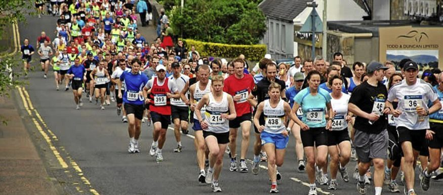 Hundreds of runners took part in the Loch Leven Half Marathon on Saturday.