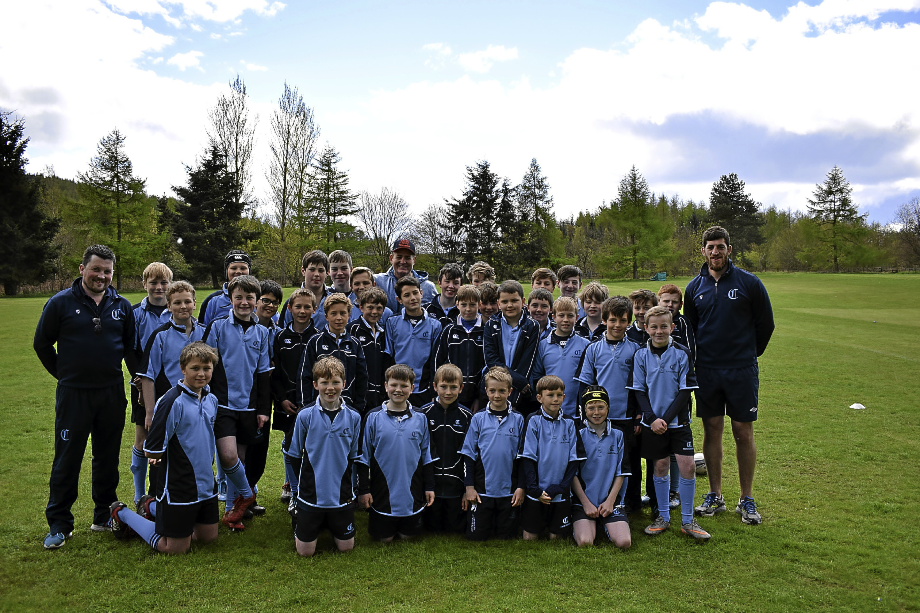 Australian rugby legend David Campese visited Craigclowan.