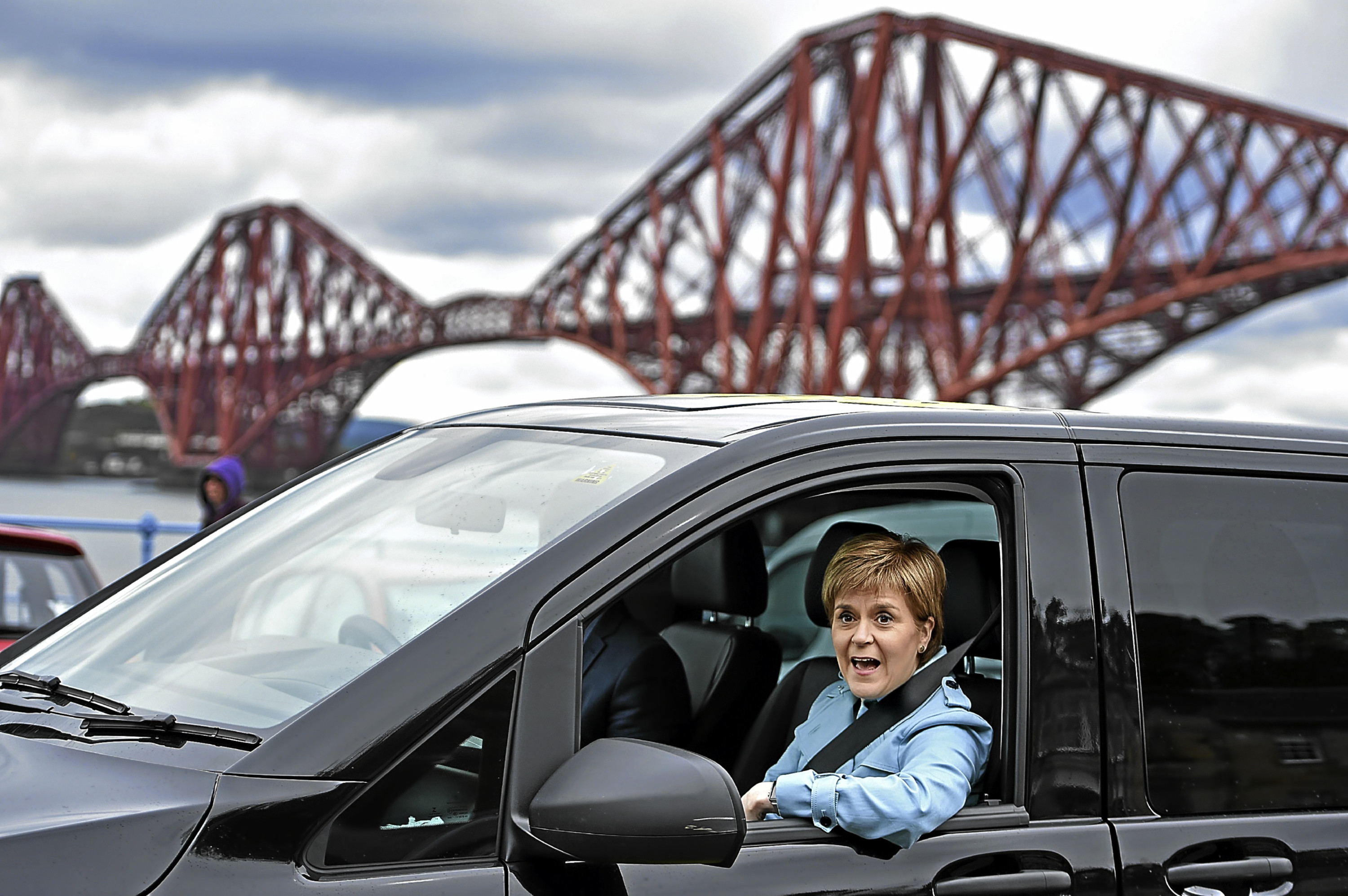 Nicola Sturgeon, seen campaigning in South Queensferry, has not ruled out another independence vote.