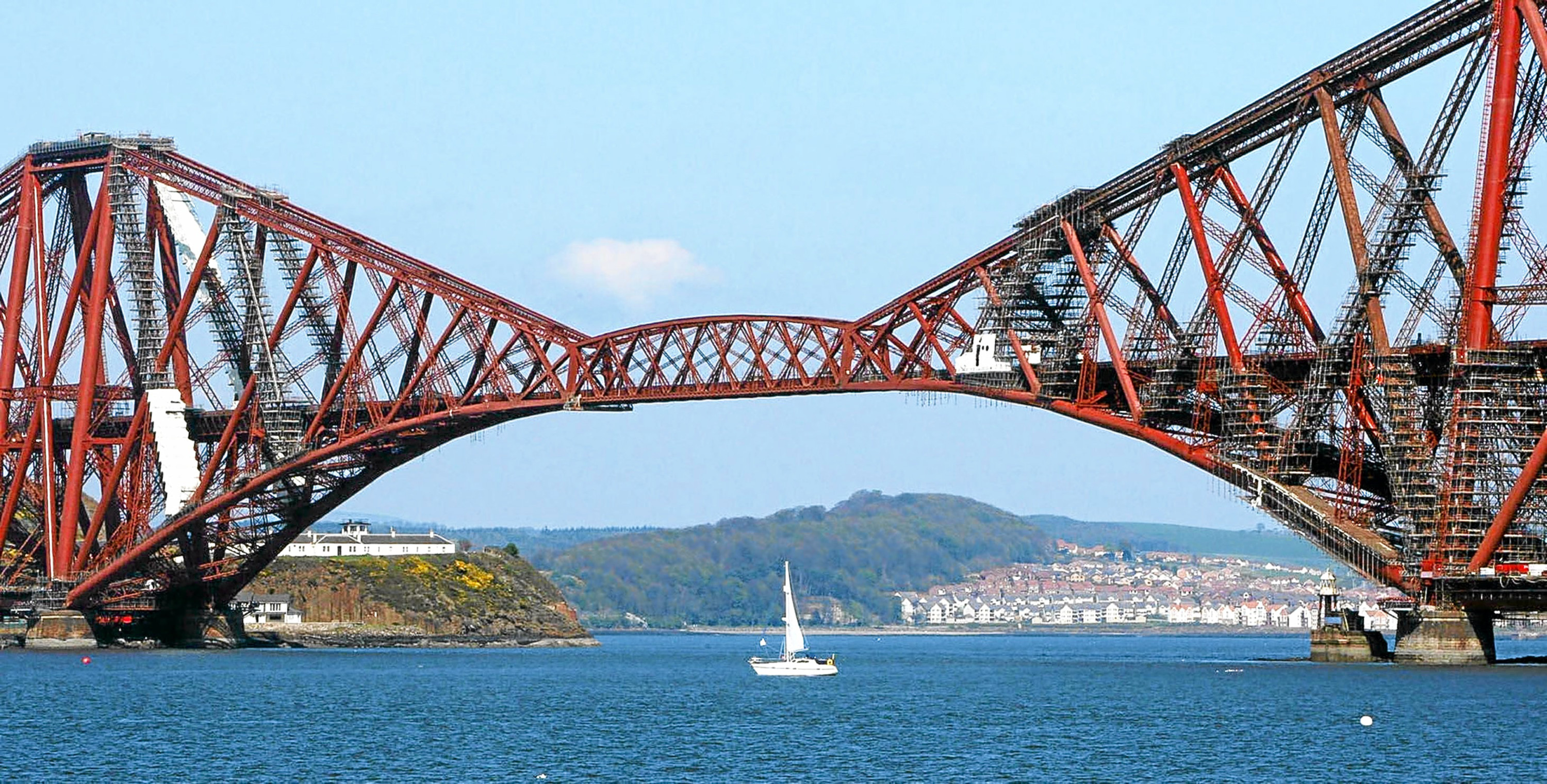 The Forth Bridge, which gained UNESCO world heritage status.