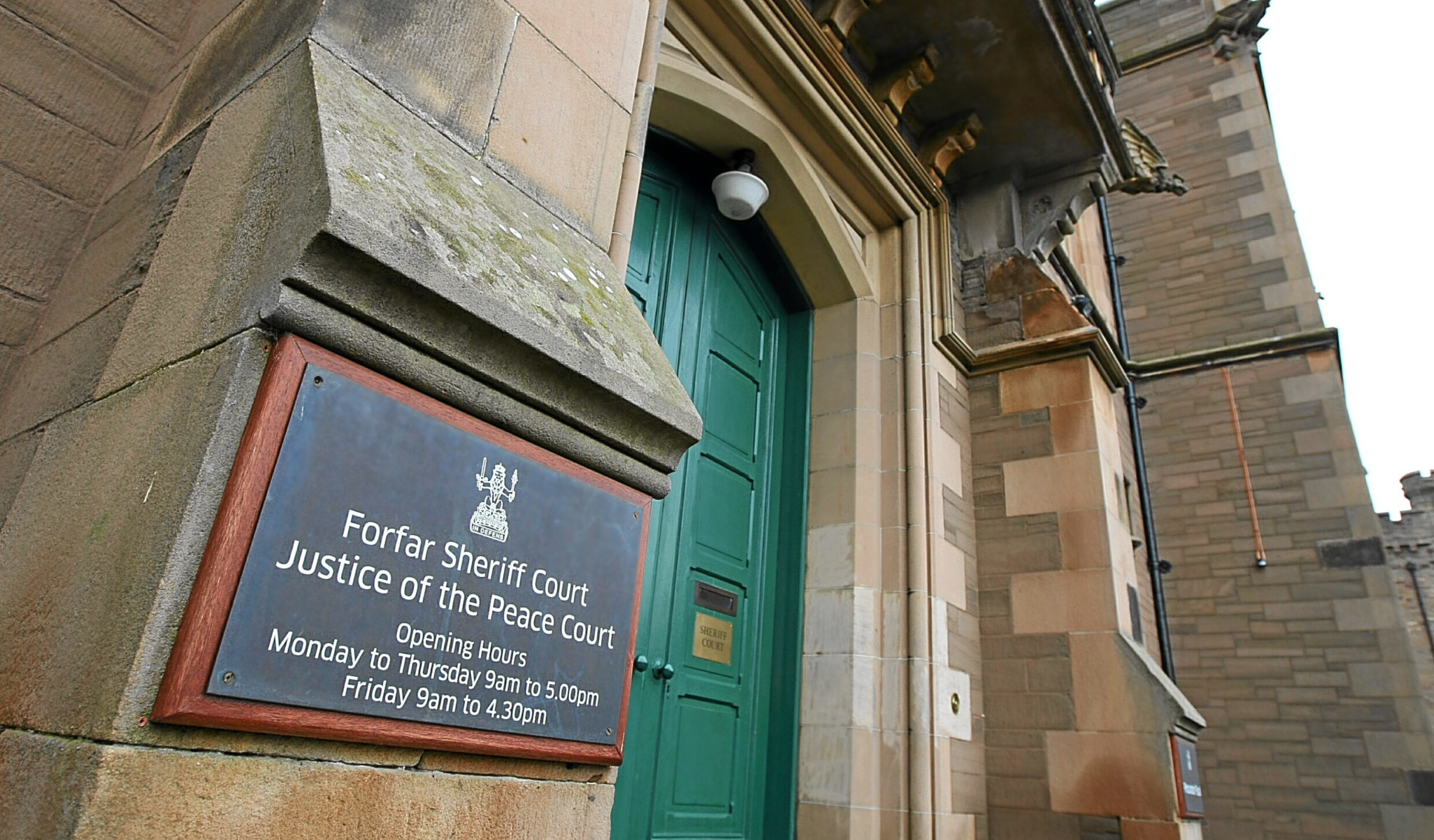 Munro appeared at Forfar Sheriff Court.