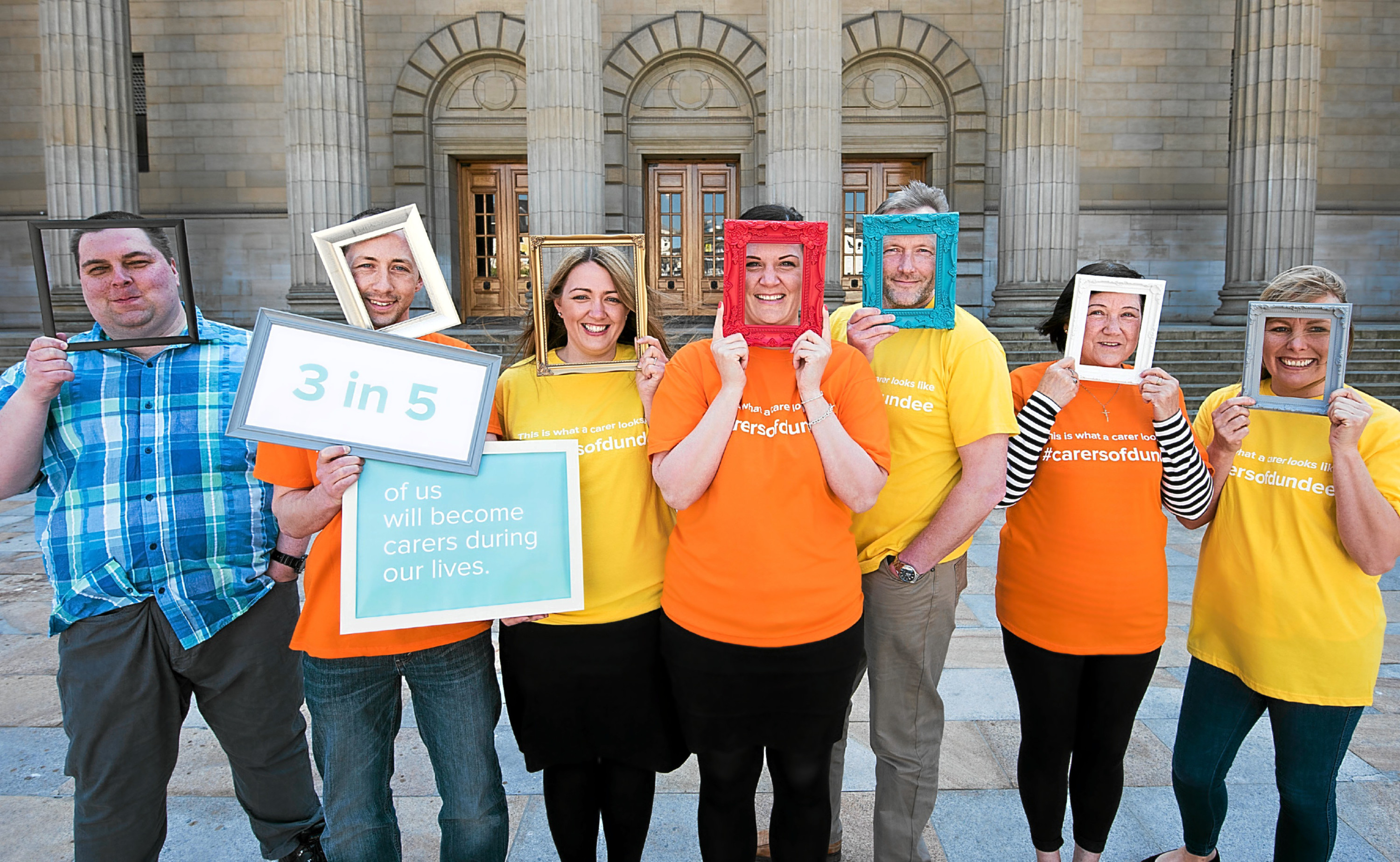 Carers and representatives from Dundee Carers Partnership launched the new campaign What Does a Carer Look Like .