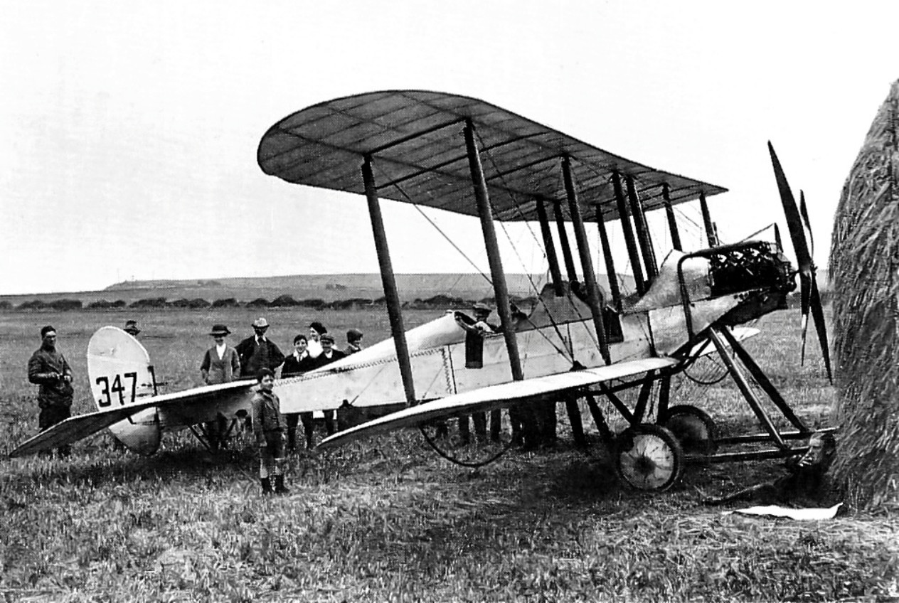 No 2 Squadrons Lieutenant Harvey-Kelly pictured on August 2 1914 with his BE2