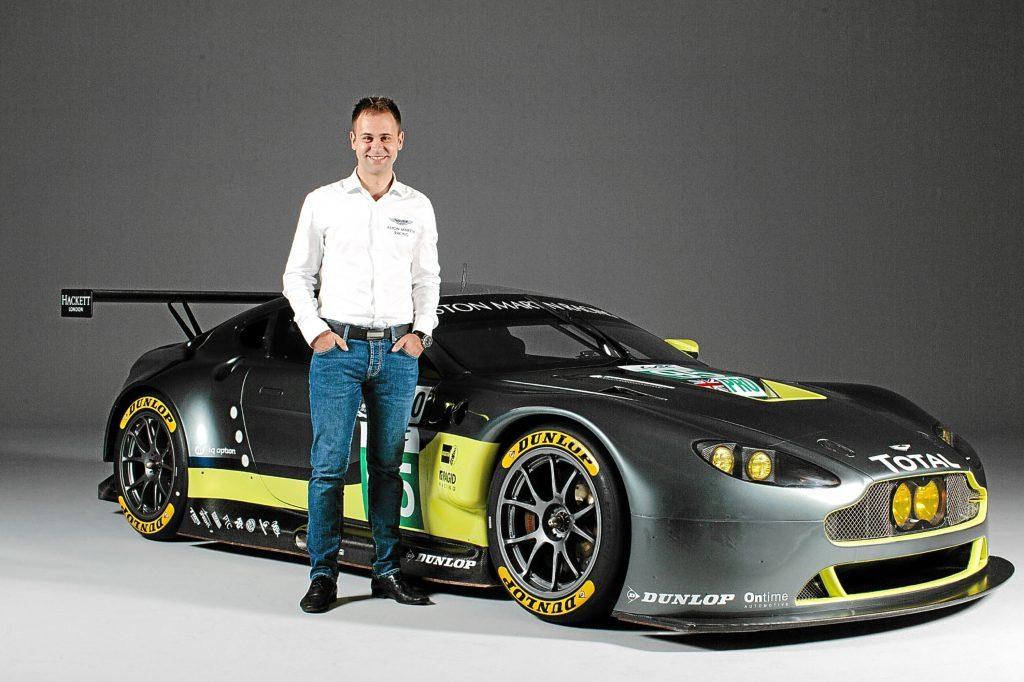 Jonny Adam with the Aston Martin Racing V8 Vantage GTE