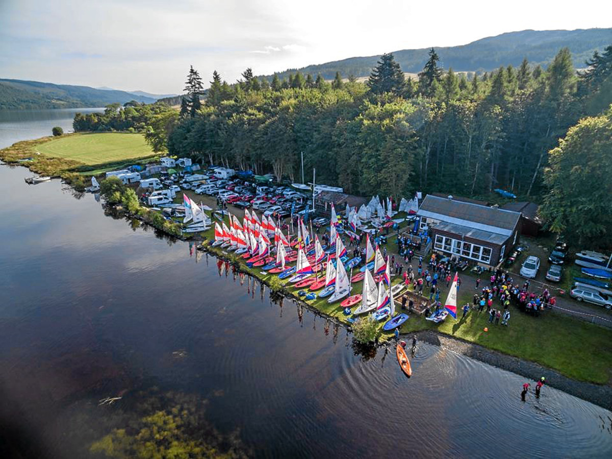 Loch Tummel Sailing Club.