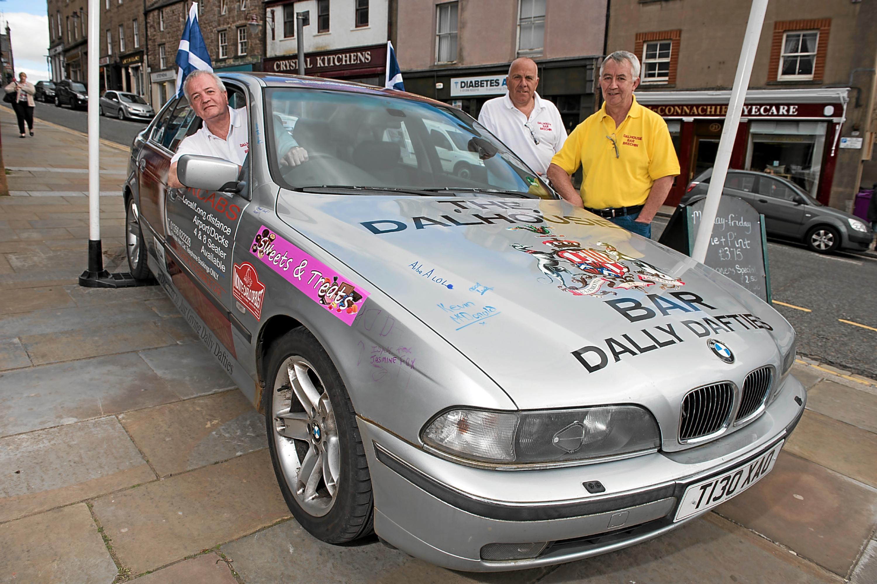 Andy Downie, Bruce Bremner, Brian McCombie and Tony Smith (not pictured) will be setting off on the 1st of June from Brechin covering 1600 miles while raising funds for five local good causes.