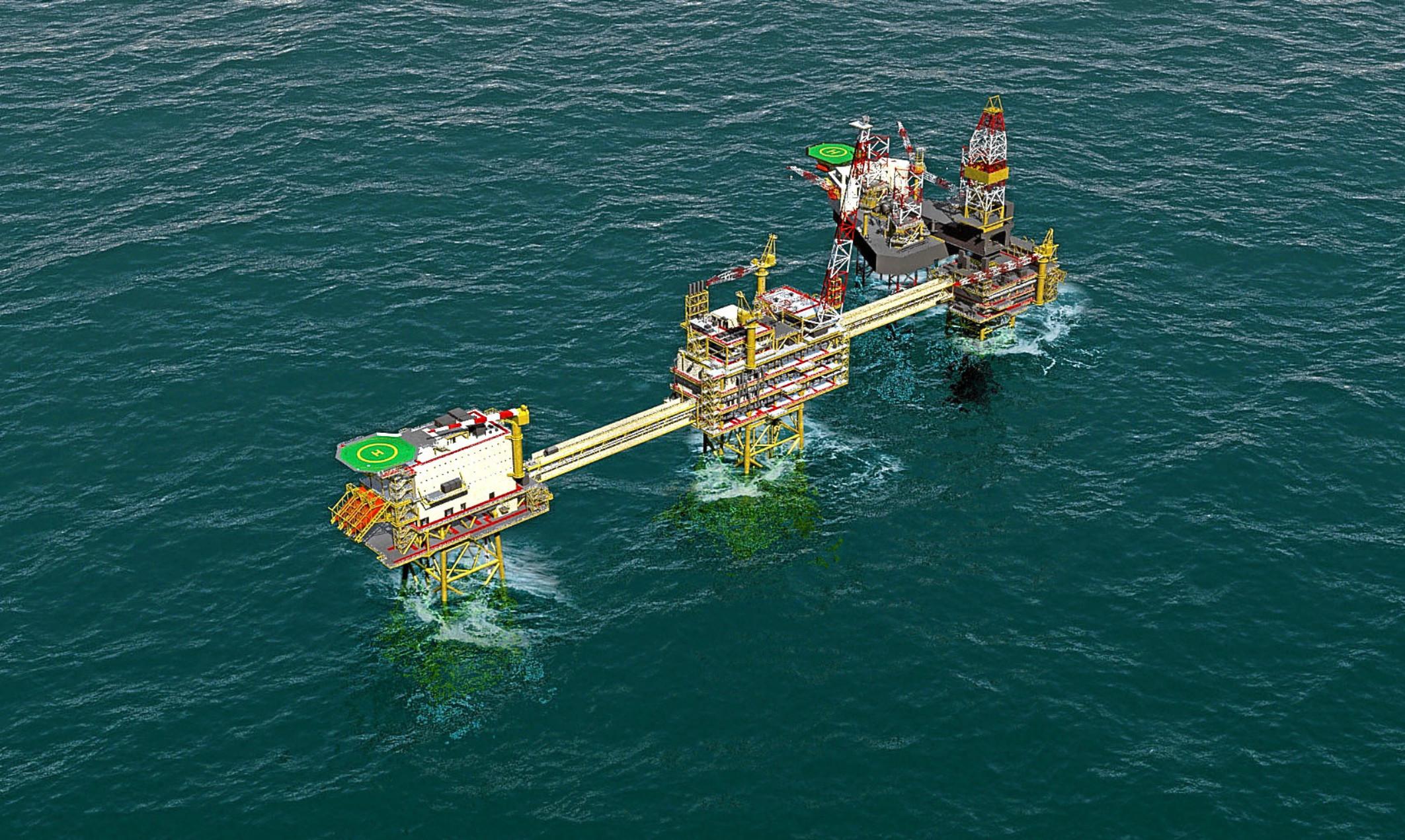 Culzean gas field in the North Sea