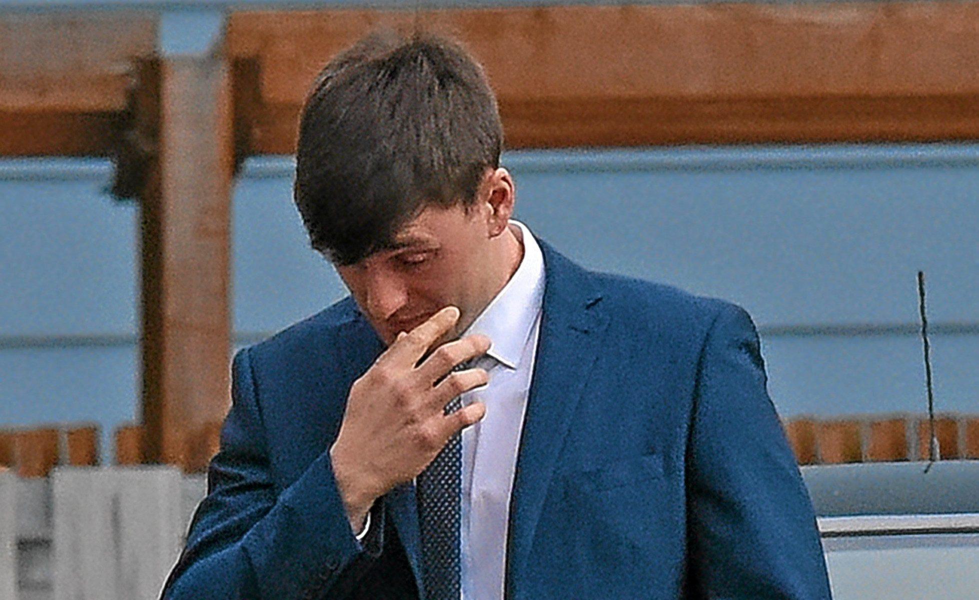 Former Marine Ryan Logan at Portsmouth Court Martial.
