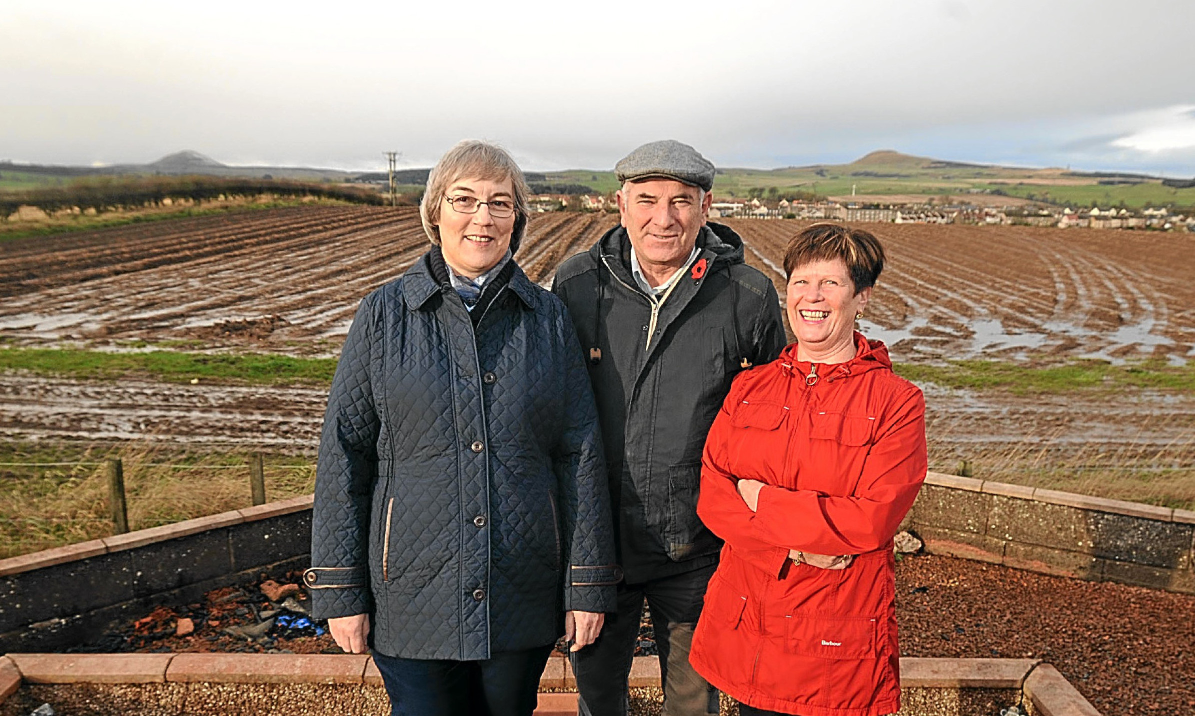 Concerned residents Susan Ramsay, Brian Sheerins and Isa Vance at Milldeans, Glenrothes/