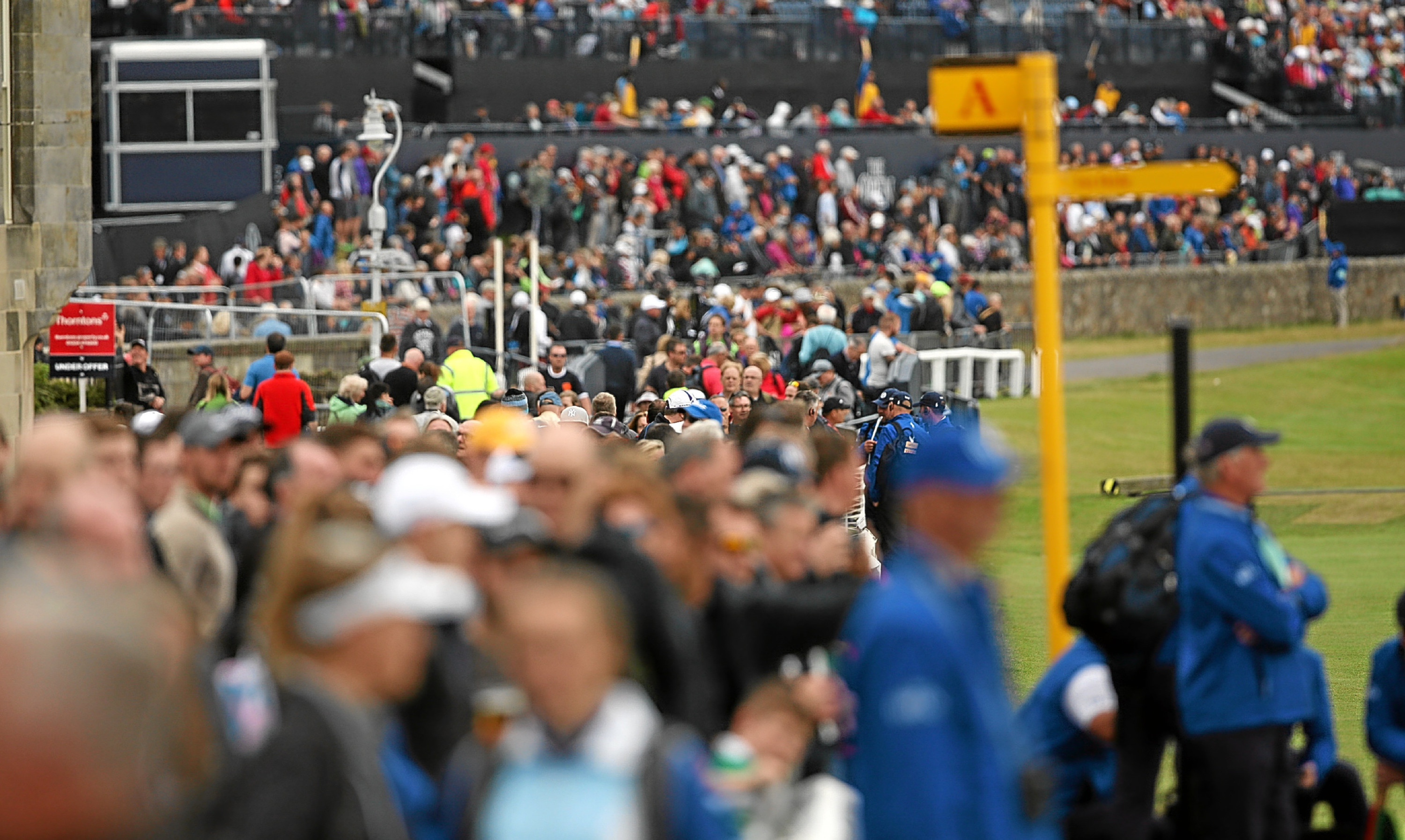 Crowds flocked to St Andrews for the last Open there.