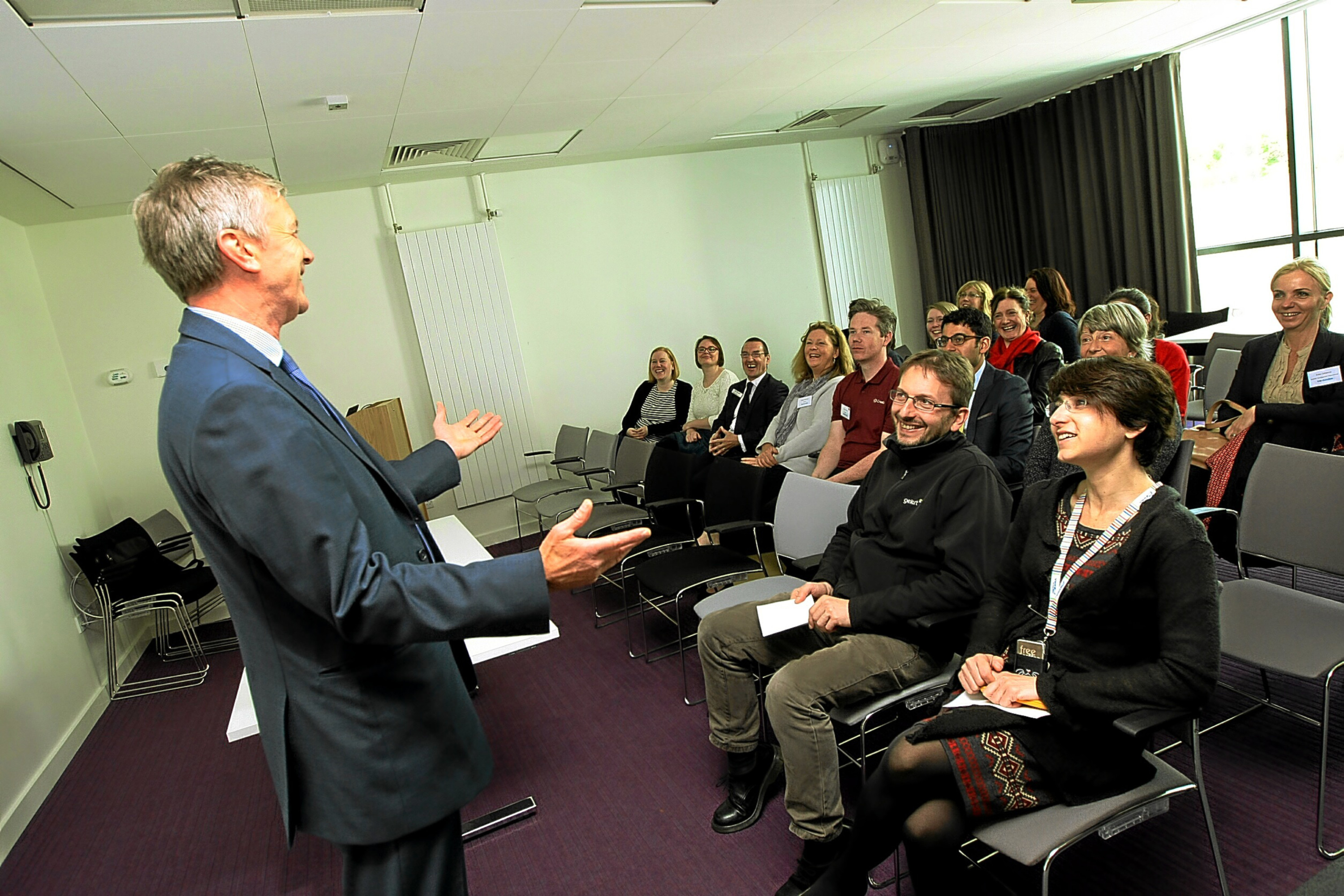 Director of the Dundee Waterfront Project, Allan Watt, addressing delegates at a previous BioDundee conference