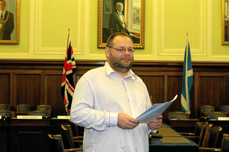 Dundee City Council education convener Stewart Hunter.