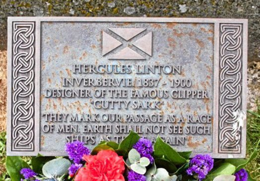 The plaque at Inverbervie.