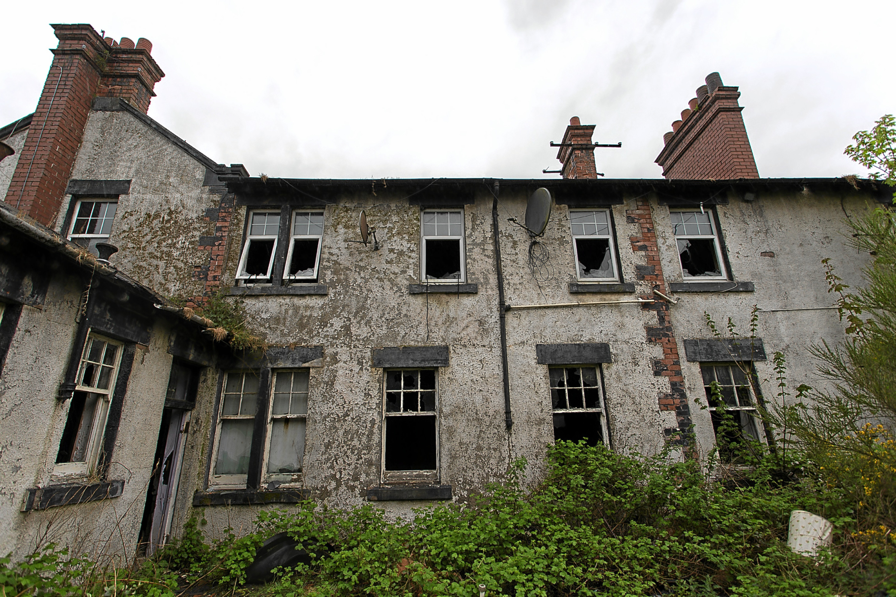 The building is in a dangerous state of decay after a fire ravaged the once successful hotel.