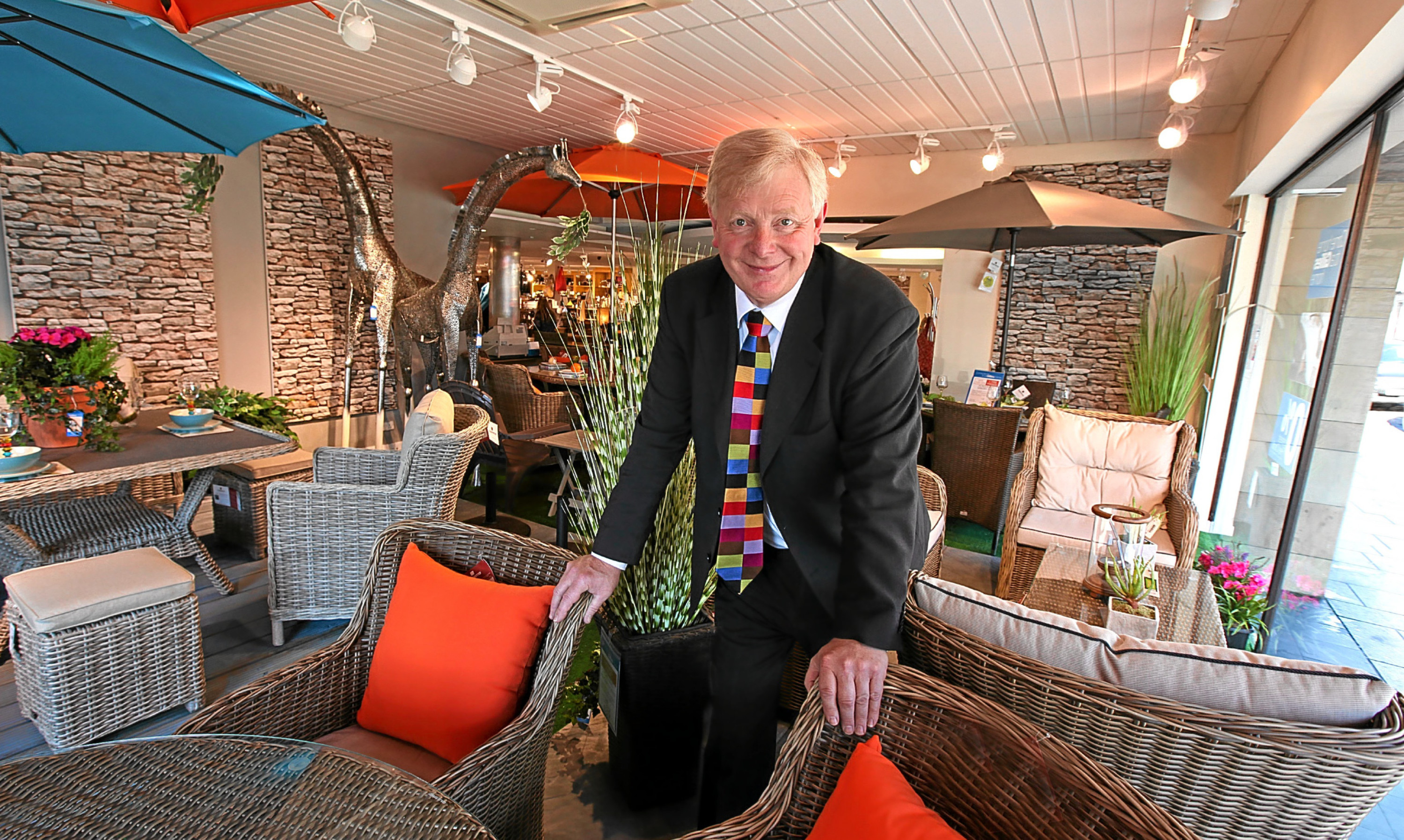 Ian Philp in the garden furnishings section at Gillies of Broughty Ferry