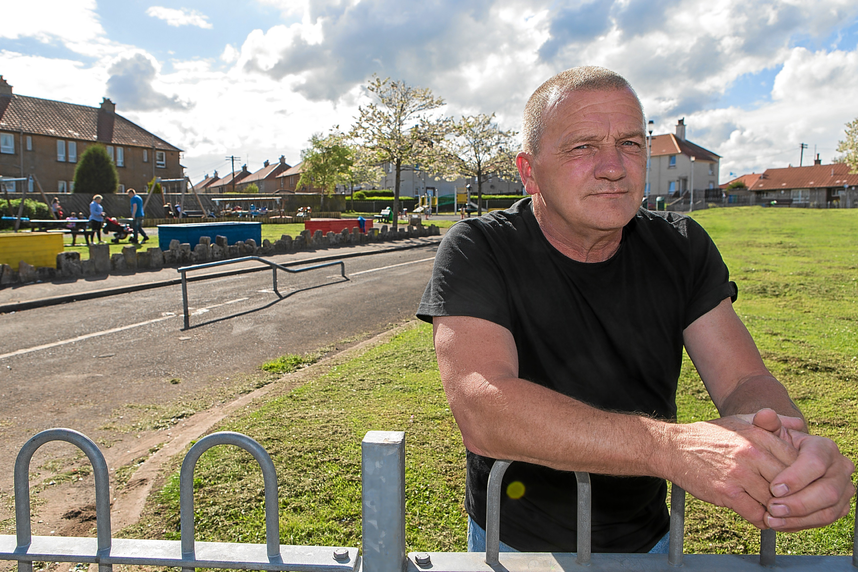 Rab O'Donnell is fed up with used drug users needles being found in the new play area in Saunders Street.
