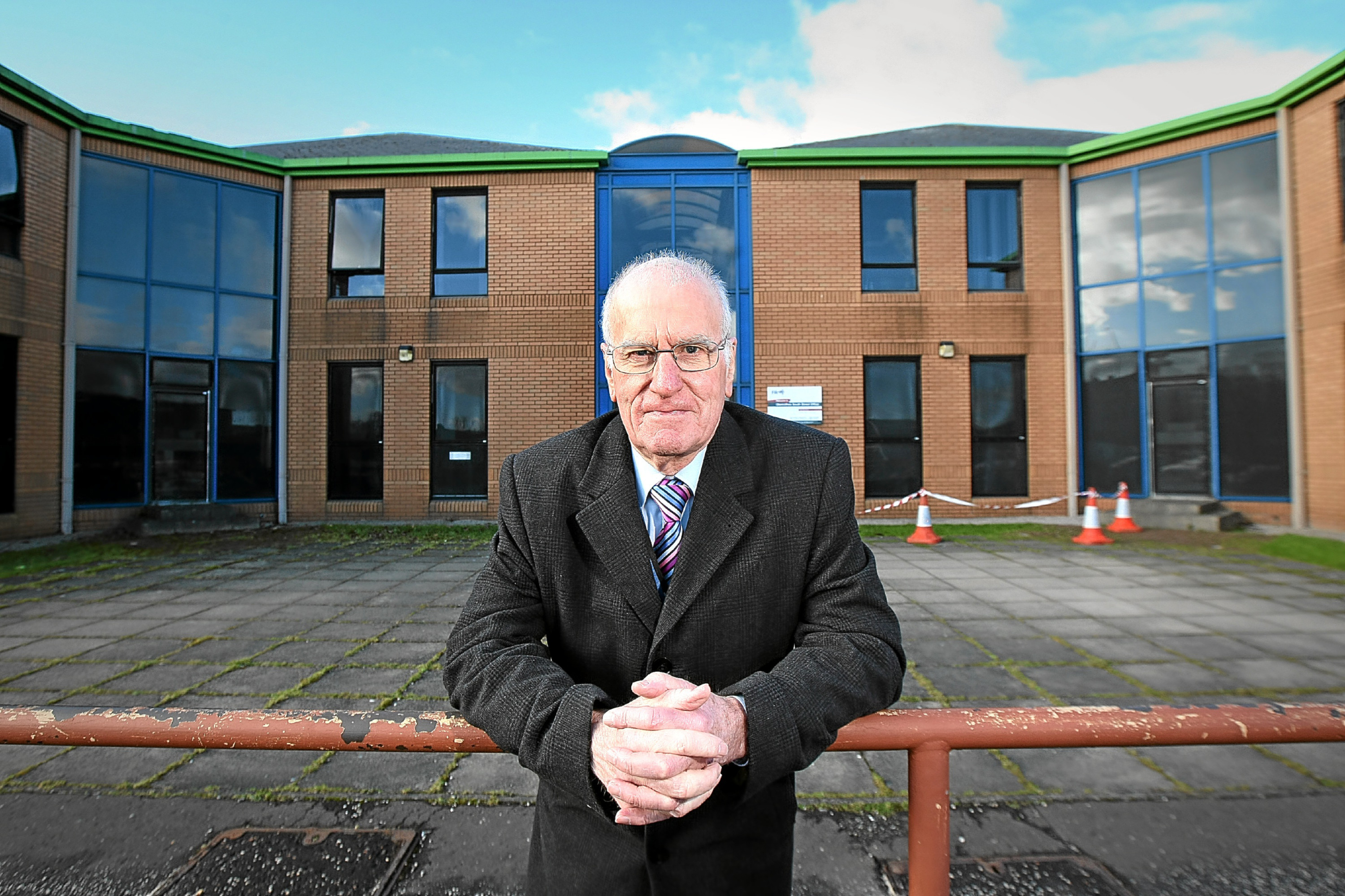 Councillor Ross Vettraino outside Fife Council's former social work building on South Street. CISWO social club is moving to social work building as part of a town centre regeneration project.