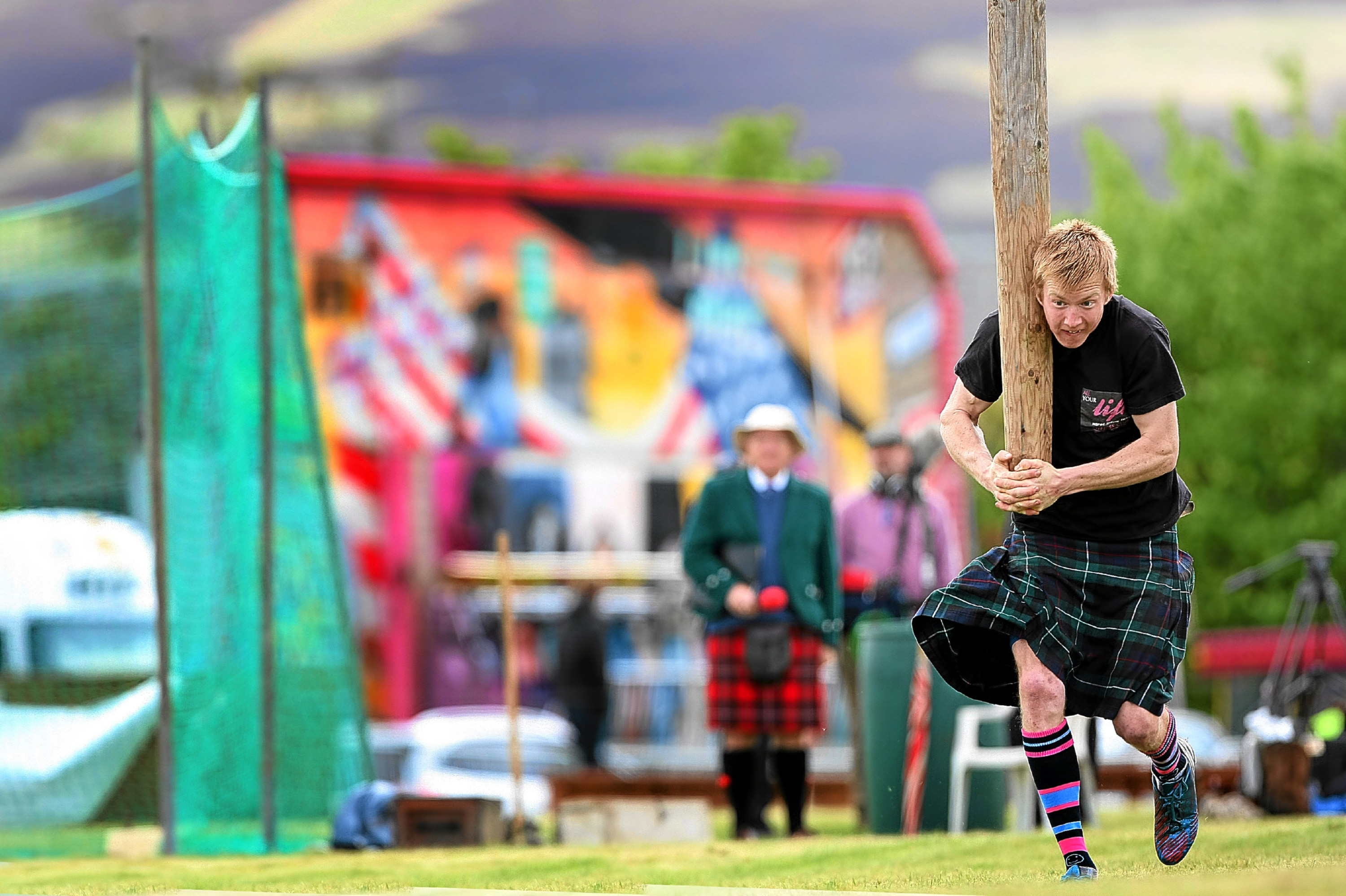 Caber tossing will once again be among the highlights at Blackford Highland Games.