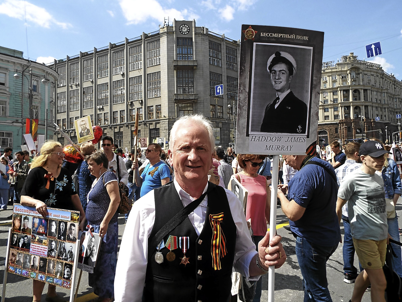 Graham Haddow took part in events celebrating the Arctic Convoy veterans .