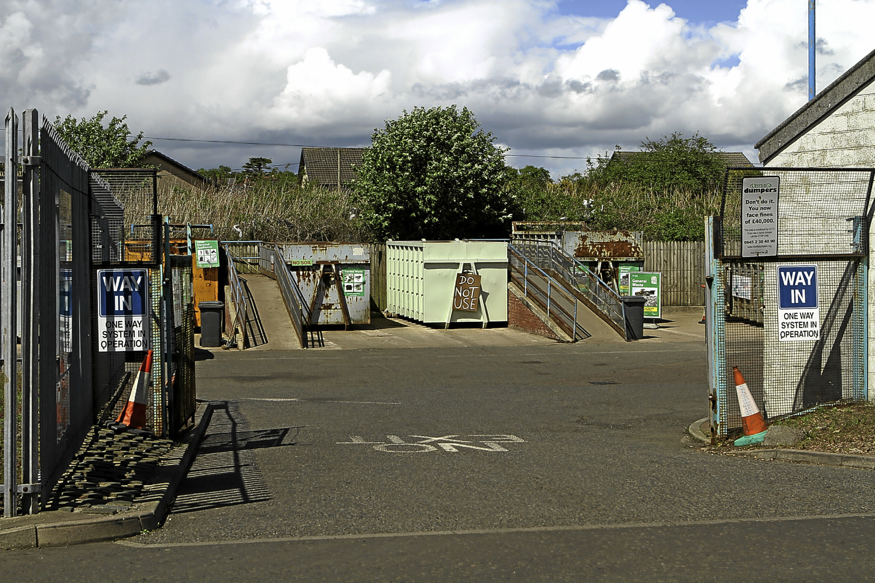The Monifieth recycling centre.
