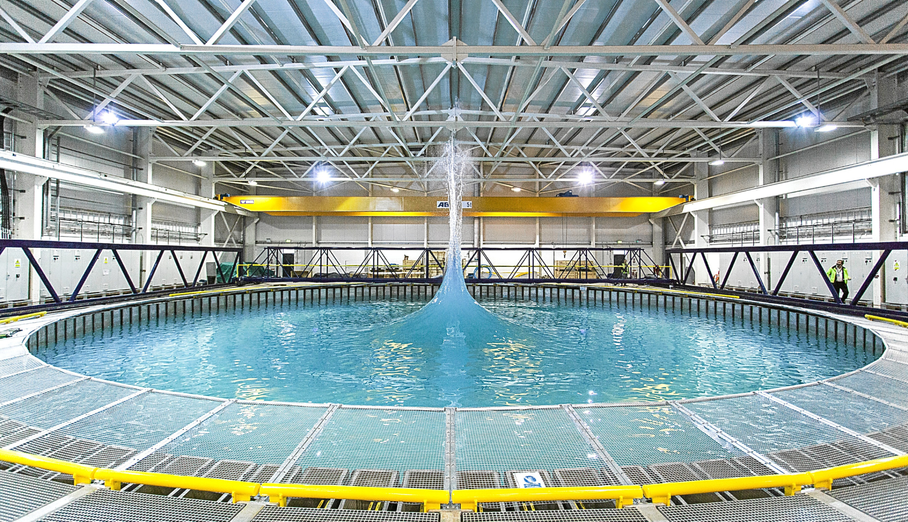 The FloWave ocean energy research facility where the gadgets will be tested.