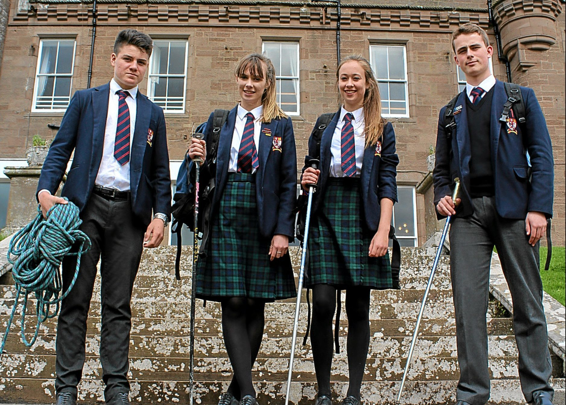 The pupils will take on the country's highest peak.