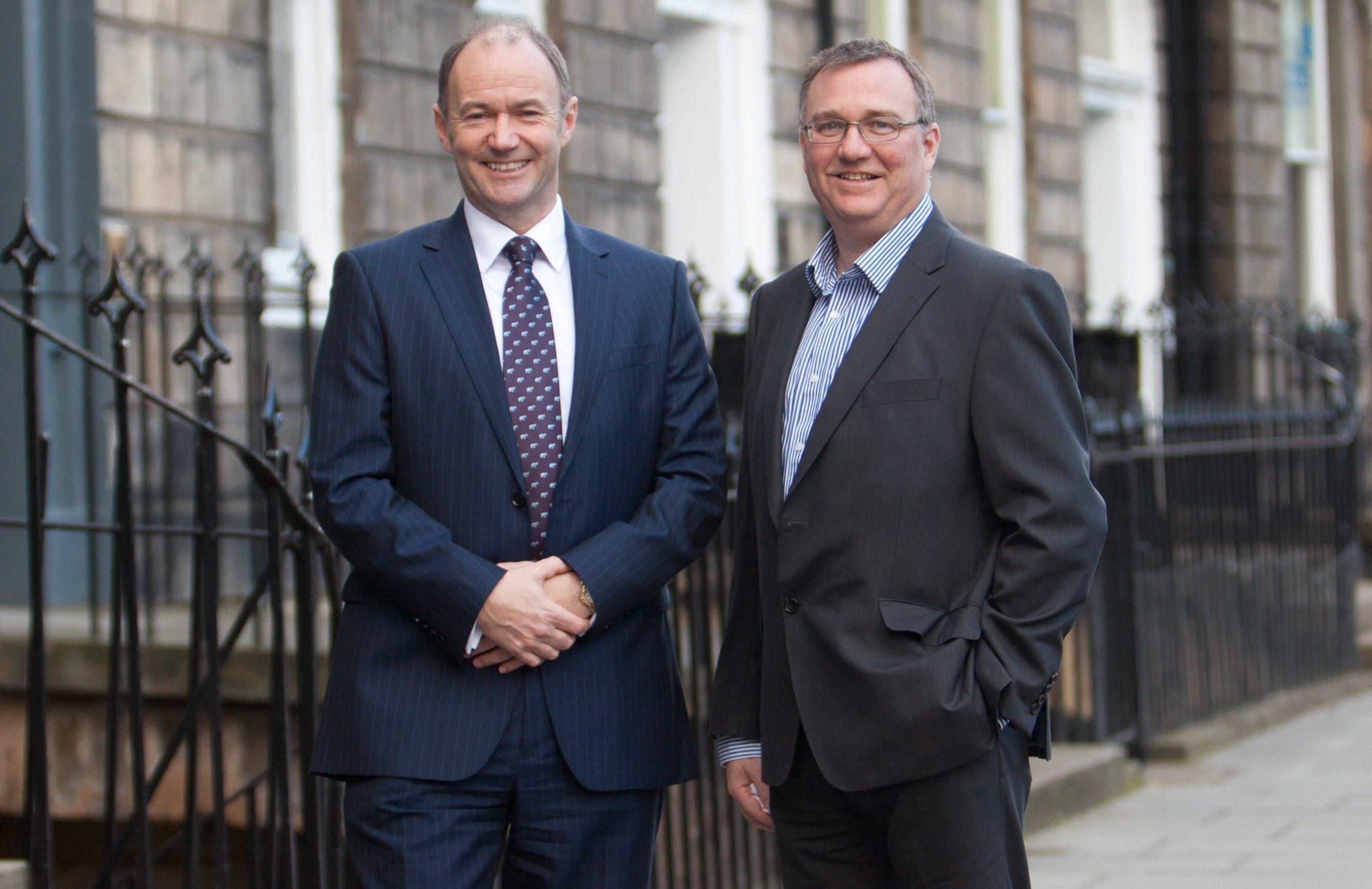 Lindsays chairman Peter Tweedie with managing partner Alasdair Cummings.