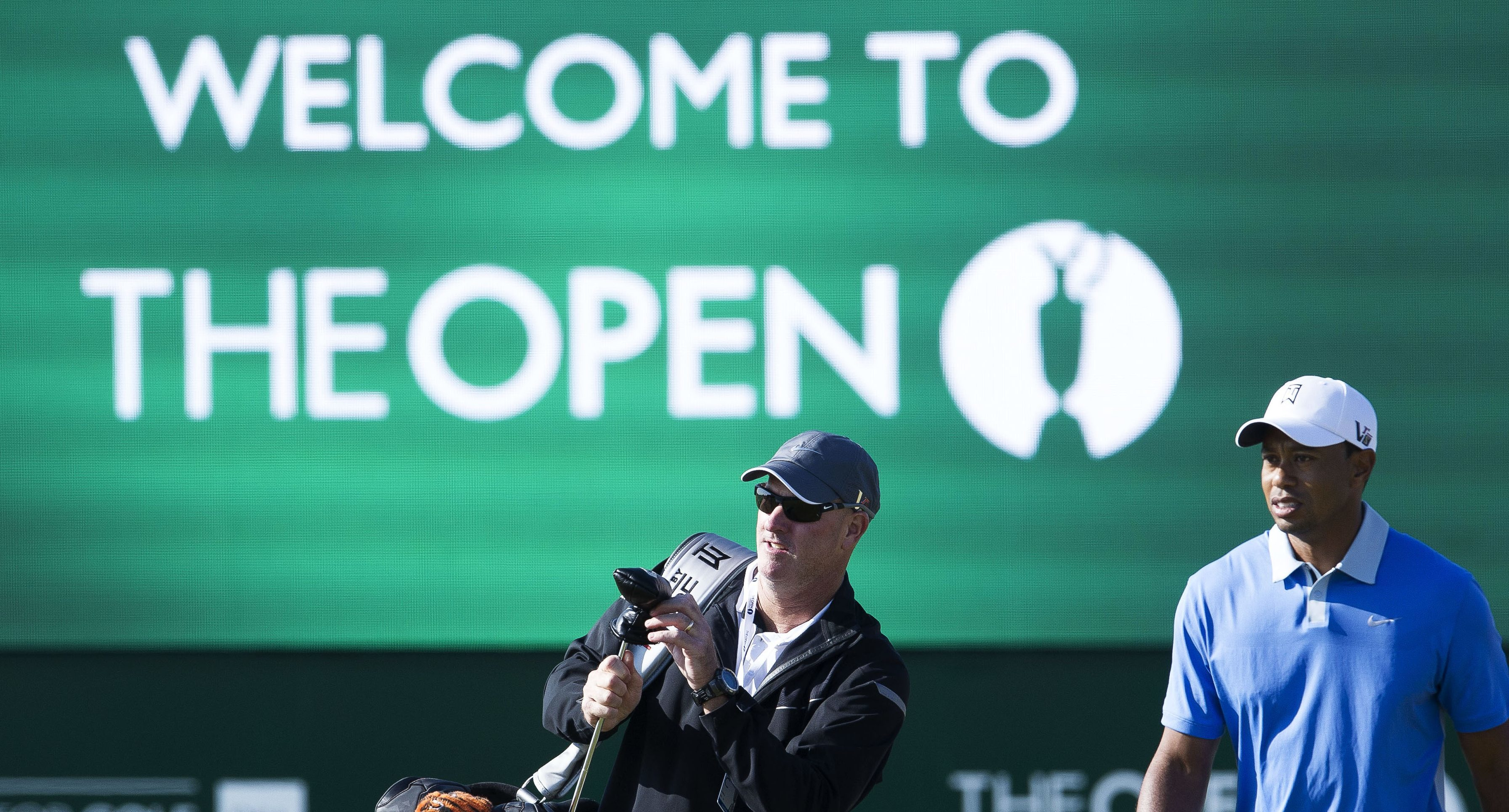 """Tiger Woods at the last Open at Muirfield - which might not be """"welcoming"""" Championship golfers for some time."""