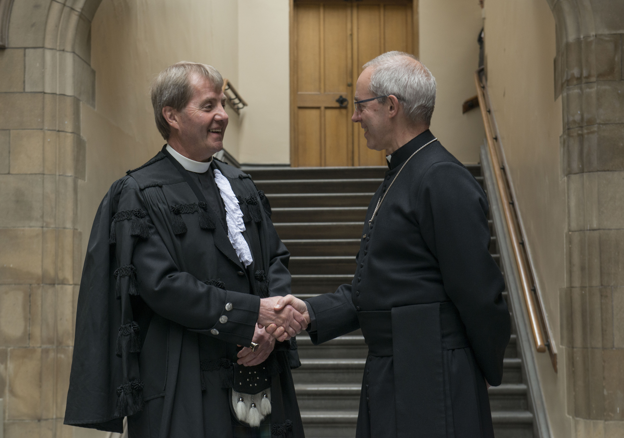 Most Revd Justin Welby, Archbishop of Canterbury has become the first head of the Church of England to take part in a debate at the General Assembly of the Church of Scotland.