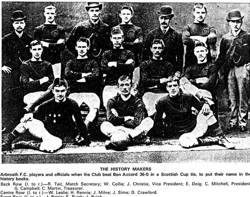 The famous Arbroath 36-0 team.